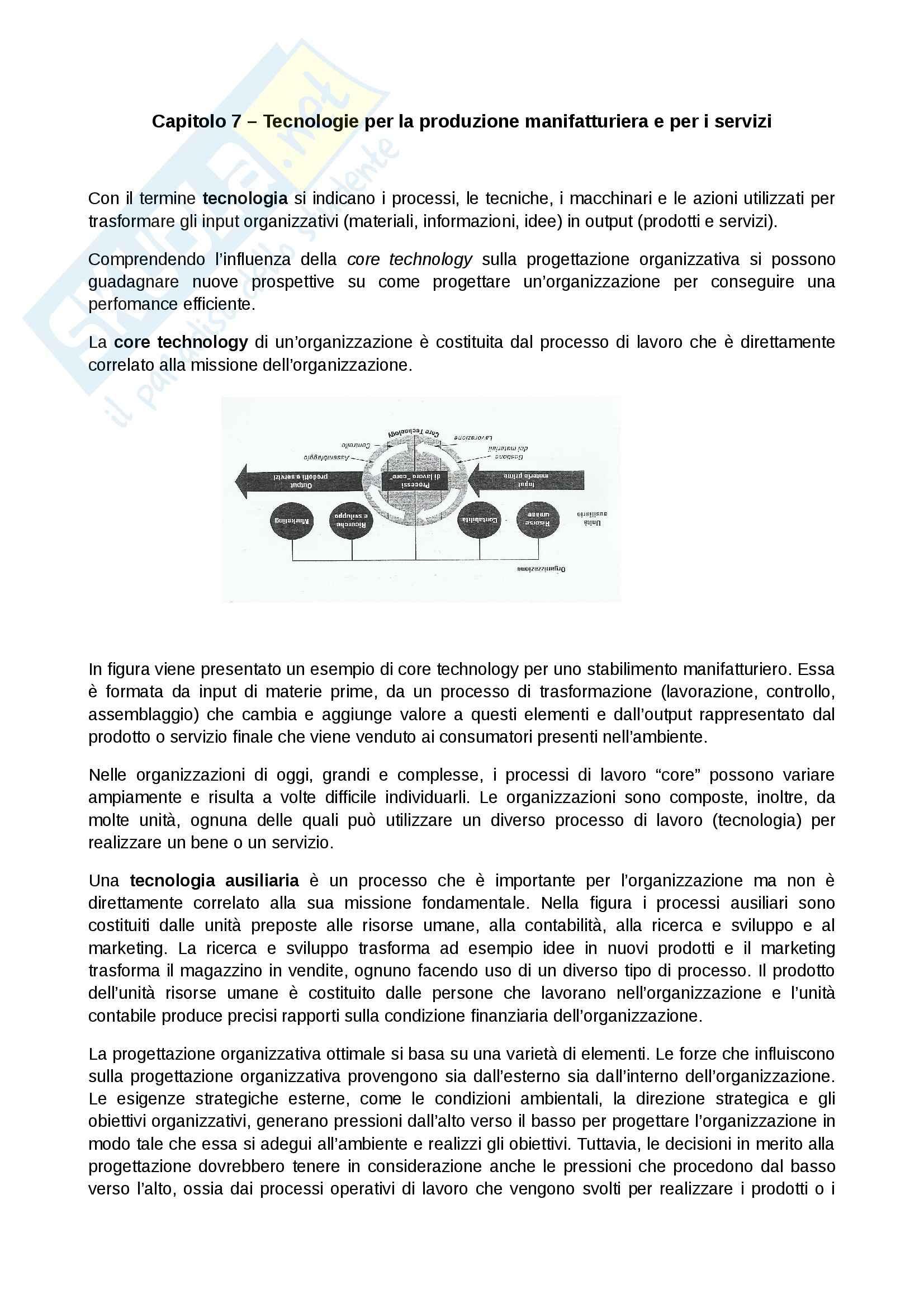 Riassunto esame Organizzazione Aziendale, prof. Manzolini, libro consigliato Organizzazione aziendale, Daft: seconda parte
