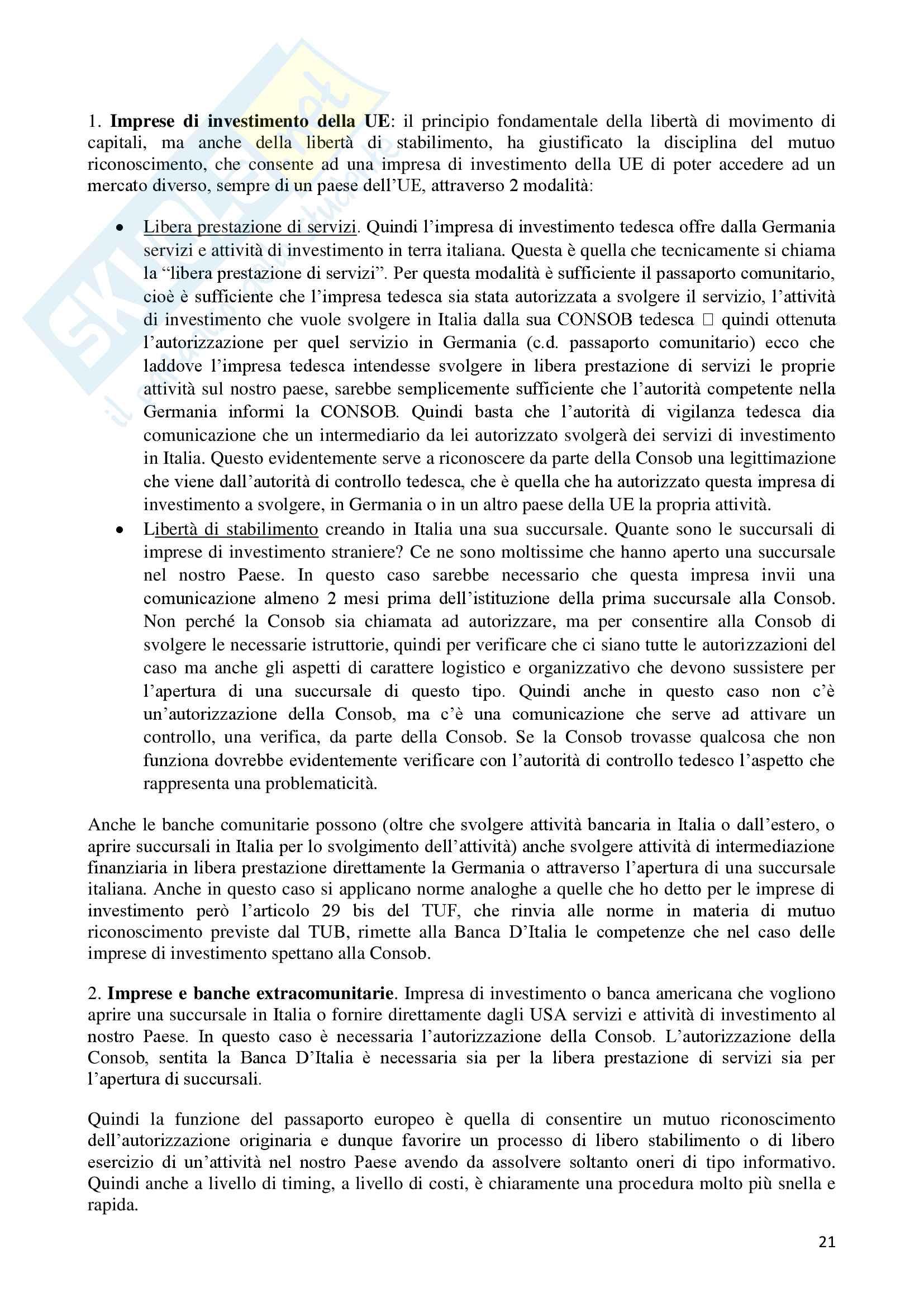 Diritto dei mercati finanziari Pag. 21