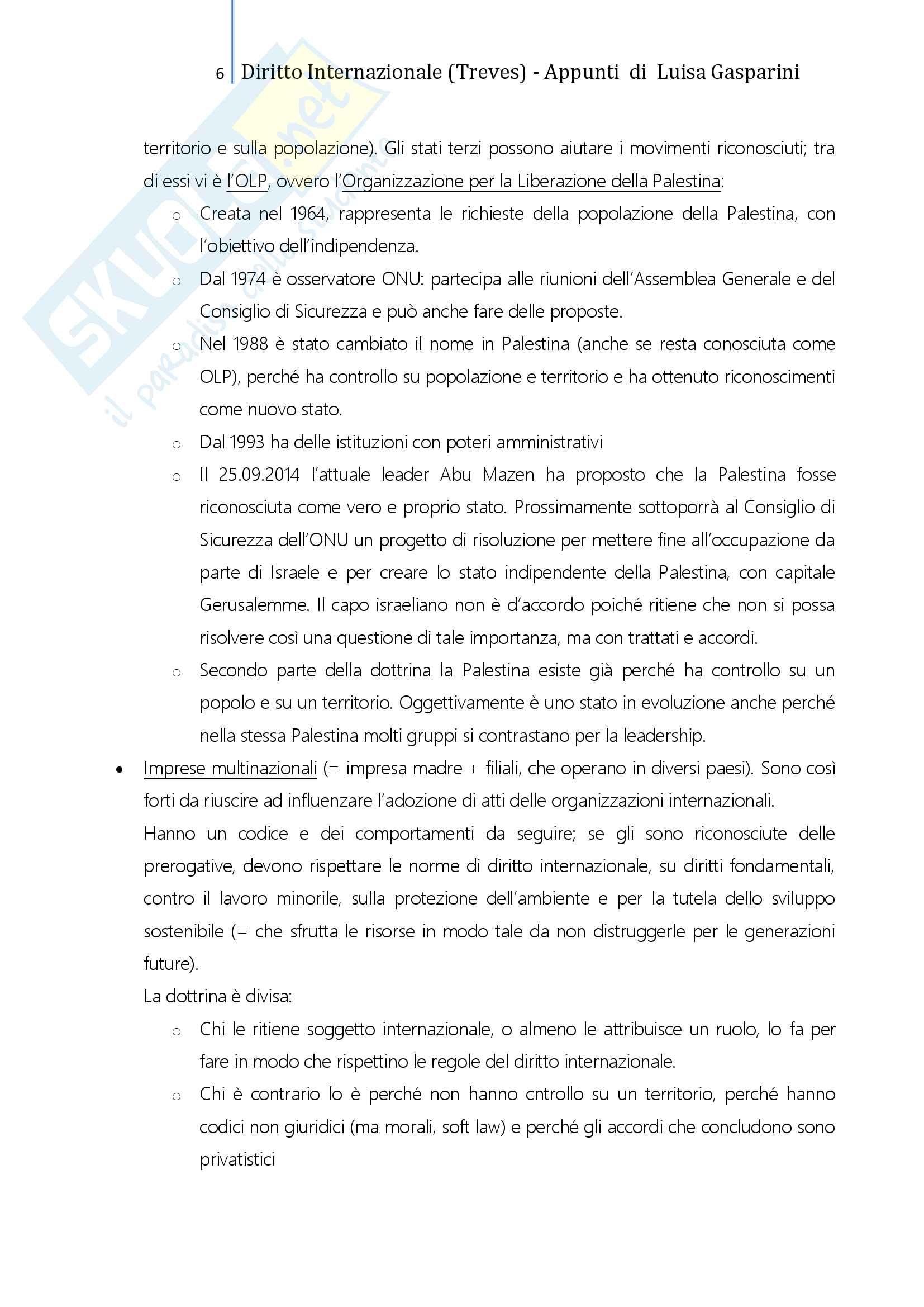 Riassunto esame Diritto internazionale, professoressa De Cesari, testo consigliato Diritto Internazionale, problemi fondamentali, Treves Pag. 6