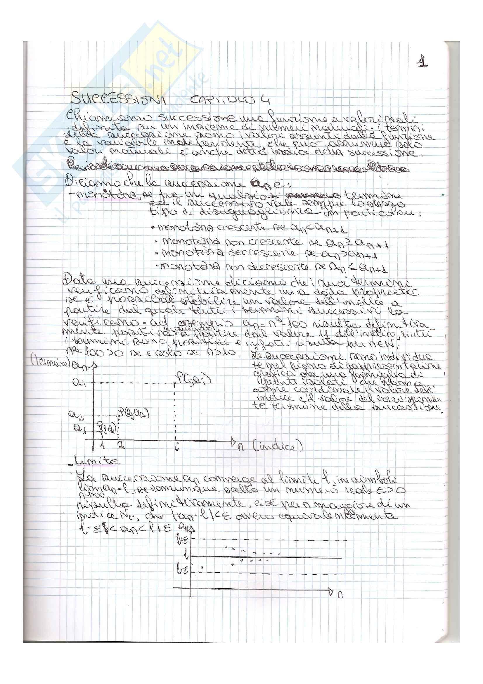 Matematica generale - teoria e compiti passati svolti