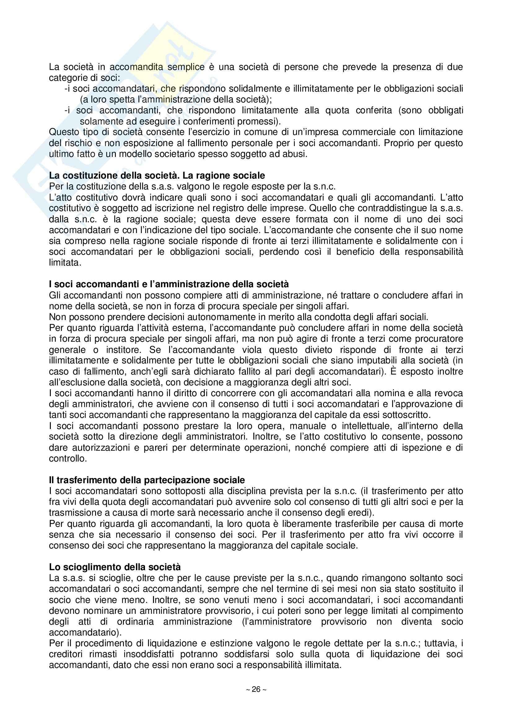 Riassunto esame Diritto Commerciale, prof. Fortunato, libro consigliato Manuale di Diritto Commerciale, Campobasso Pag. 26