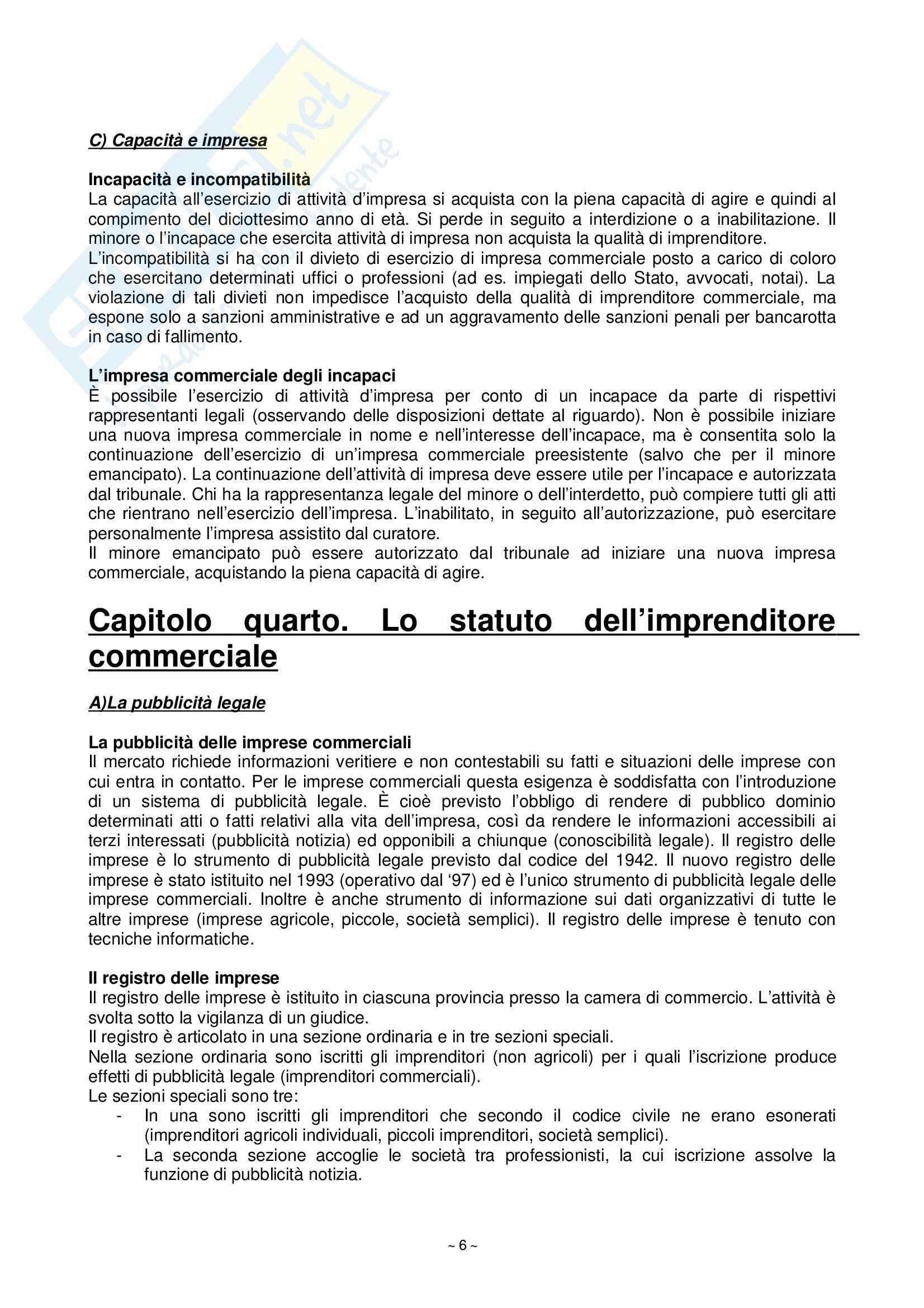 Riassunto esame Diritto Commerciale, prof. Fortunato, libro consigliato Manuale di Diritto Commerciale, Campobasso Pag. 6