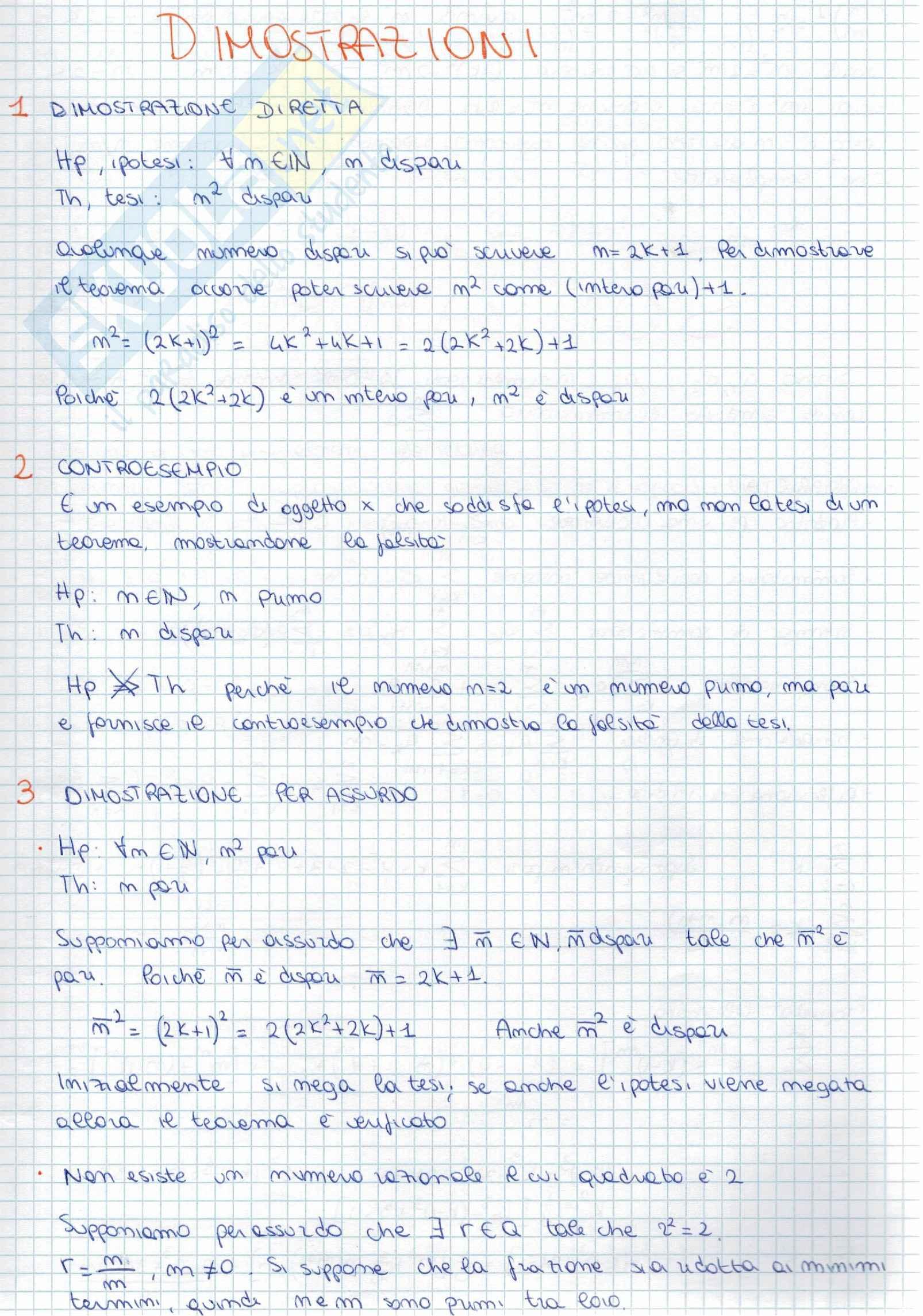 Appunti di istituzioni di matematica I
