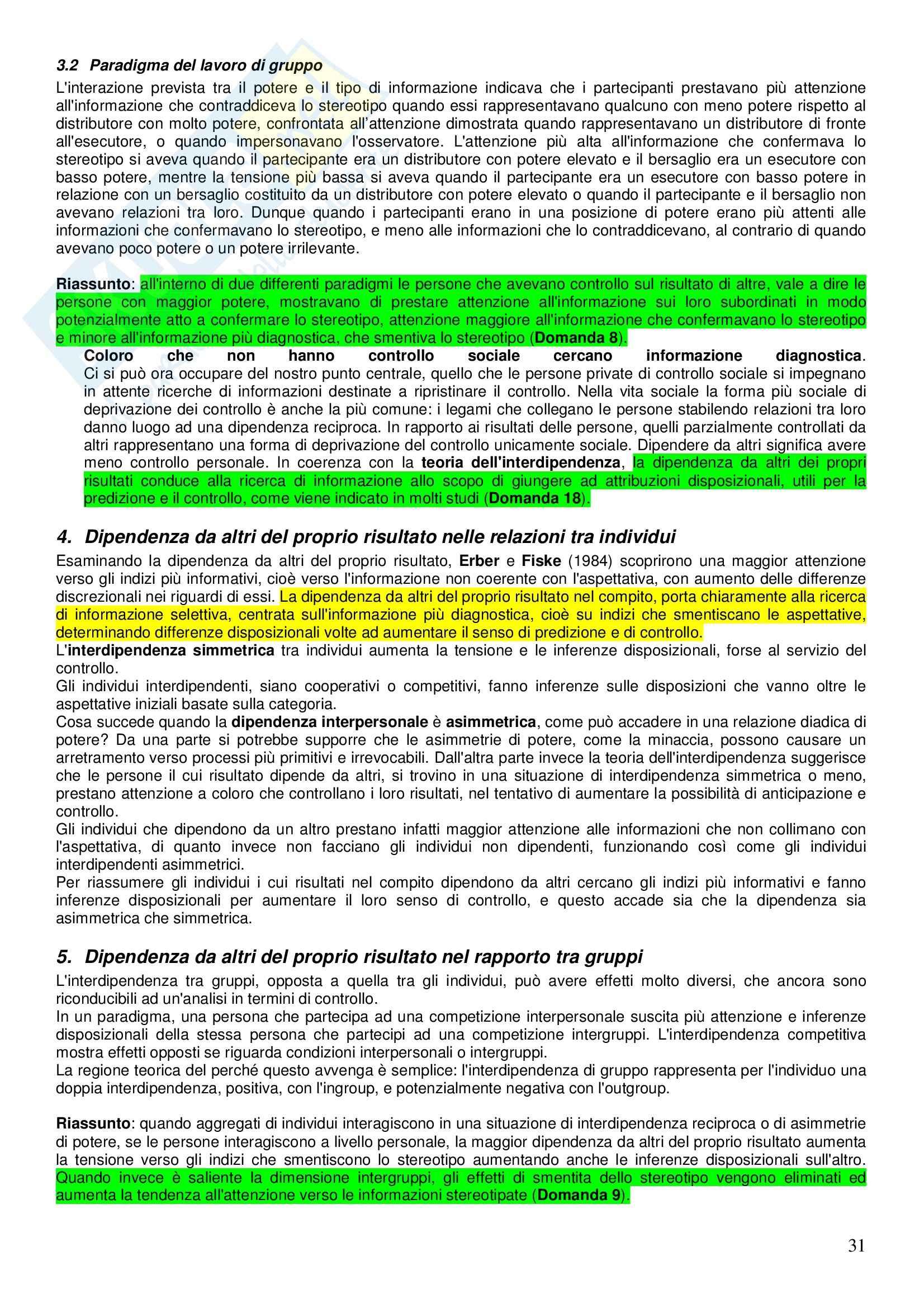 Riassunto esame Sociologia Generale, prof. Muzzetto, libro consigliato Prospettive Psicologico-sociali sul Potere, Pierro Pag. 31