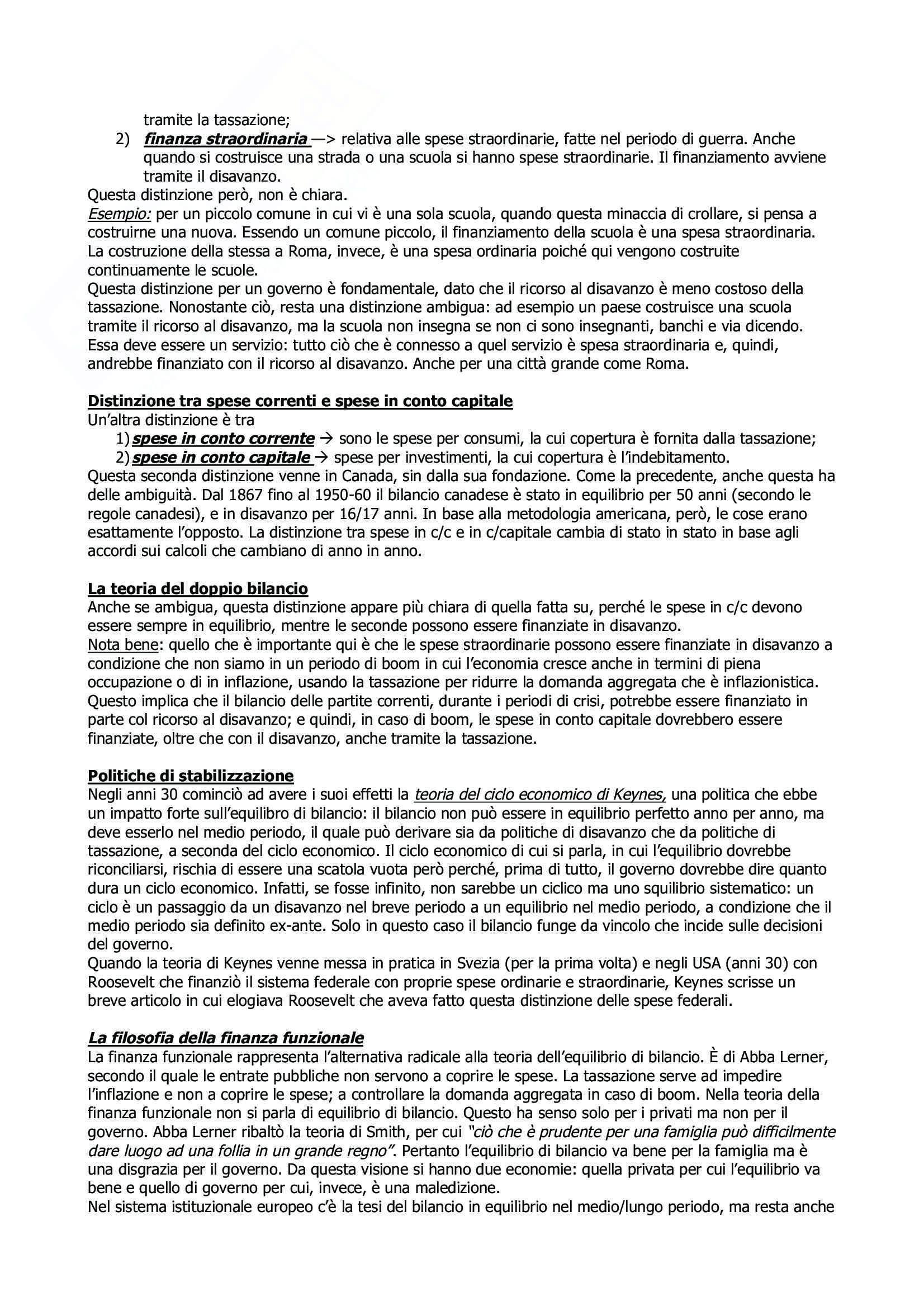 Scienza Delle Finanze (Corso Avanzato) - Appunti Pag. 21
