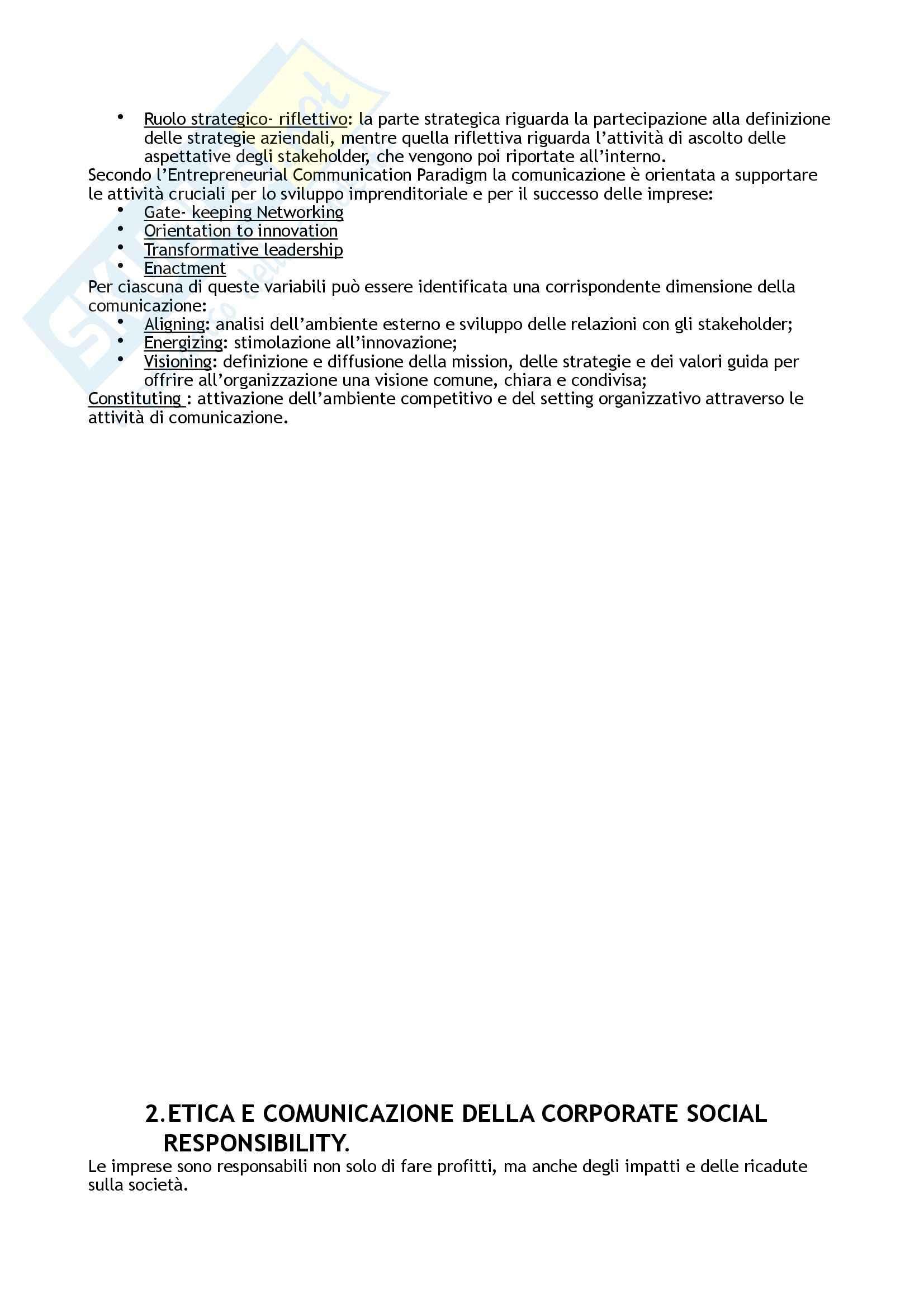 Riassunto esame Relazioni Pubbliche, prof. Romenti, libro consigliato Relazioni pubbliche e corporate communication. La gestione dei servizi specializzati, Invernizzi, Romenti Pag. 6