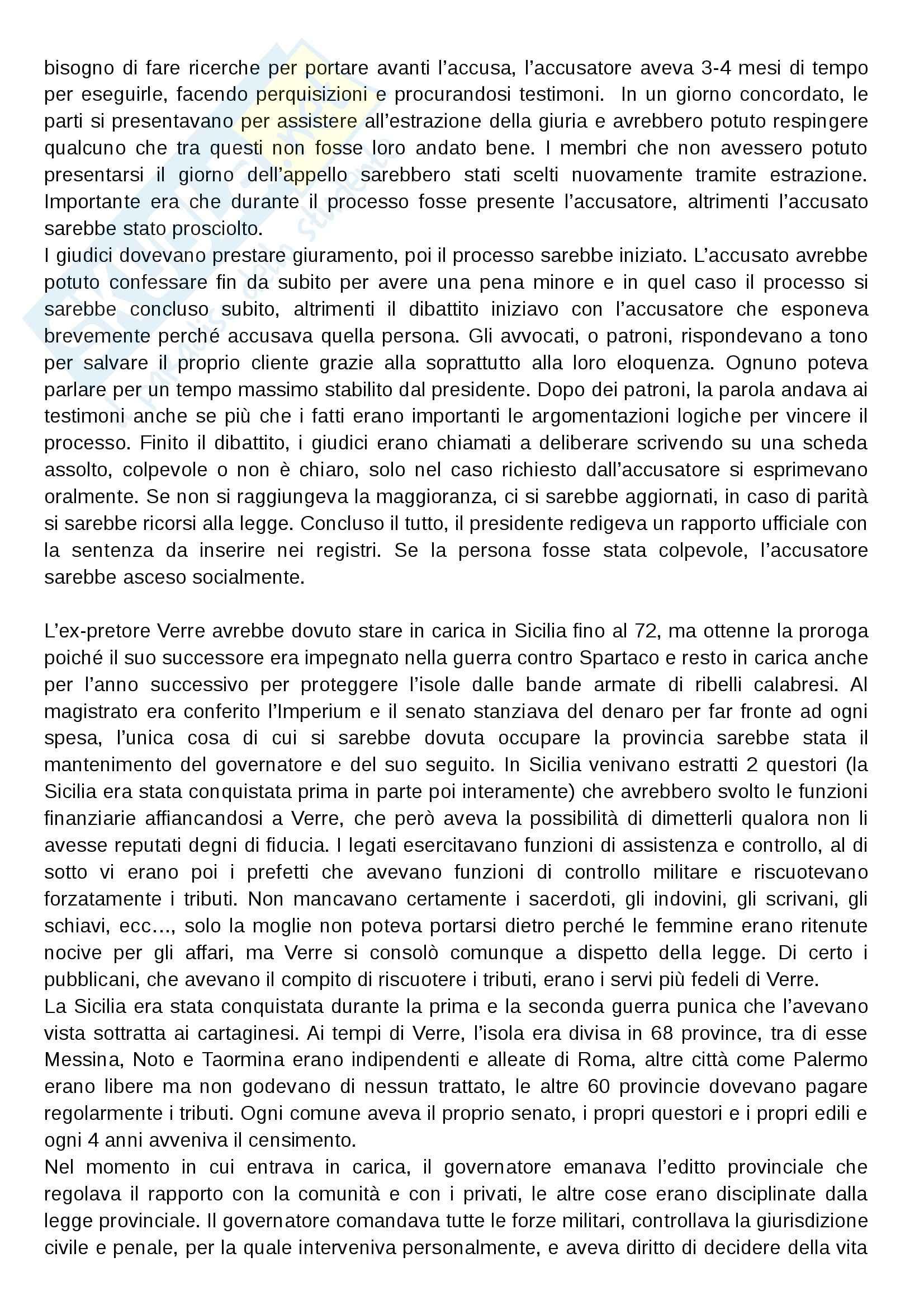Processo di Verre, Storia romana Pag. 2