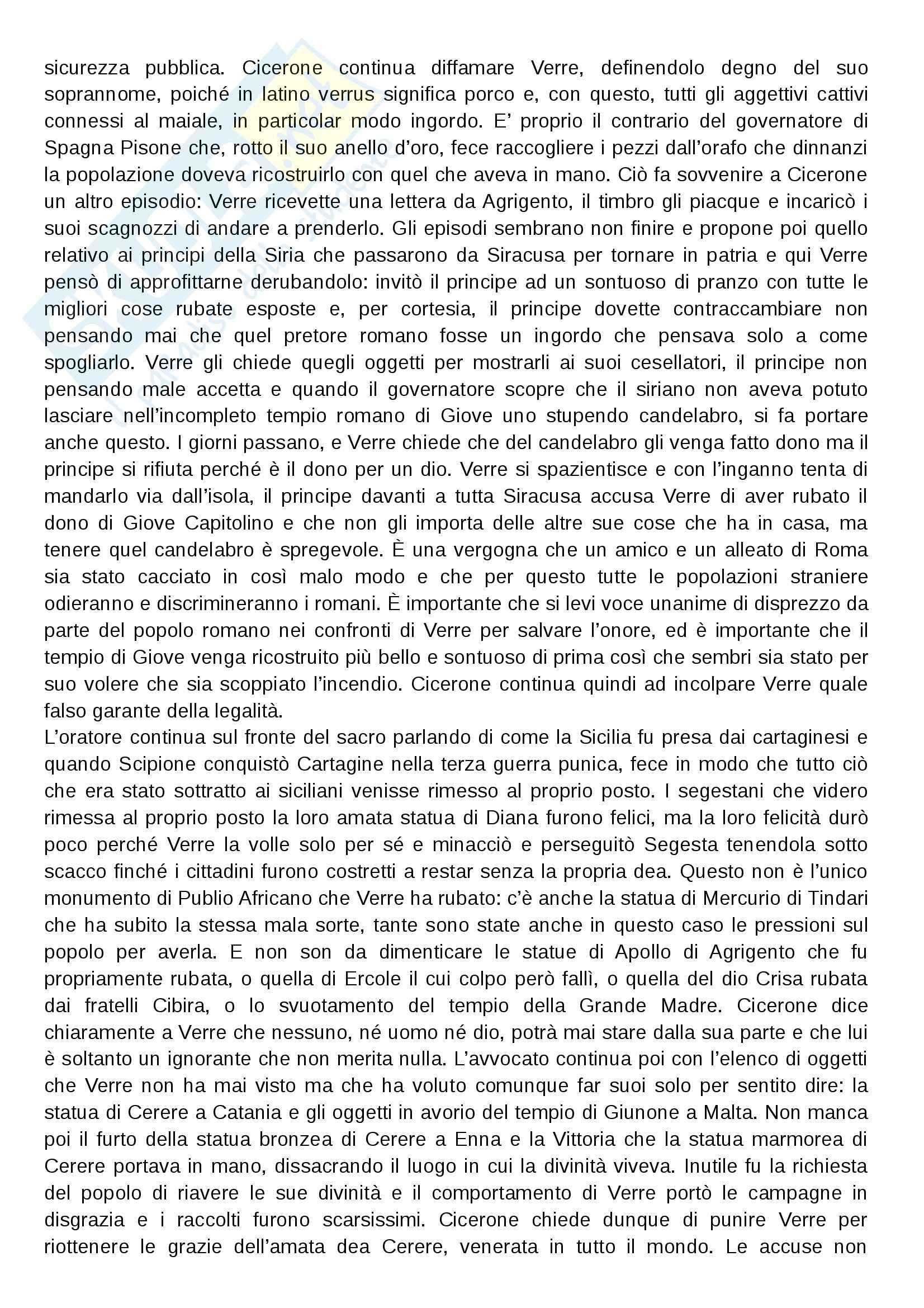 Processo di Verre, Storia romana Pag. 6