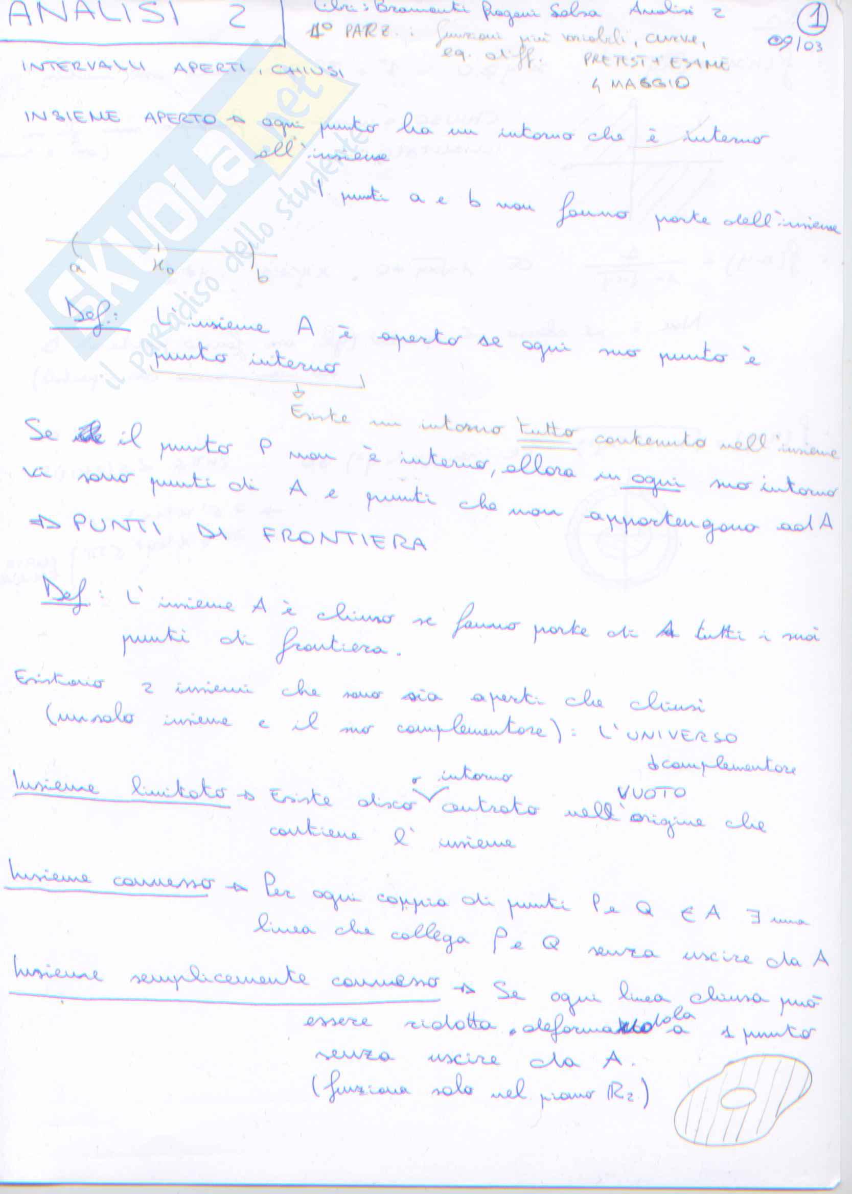 appunto M. Boella Analisi matematica II