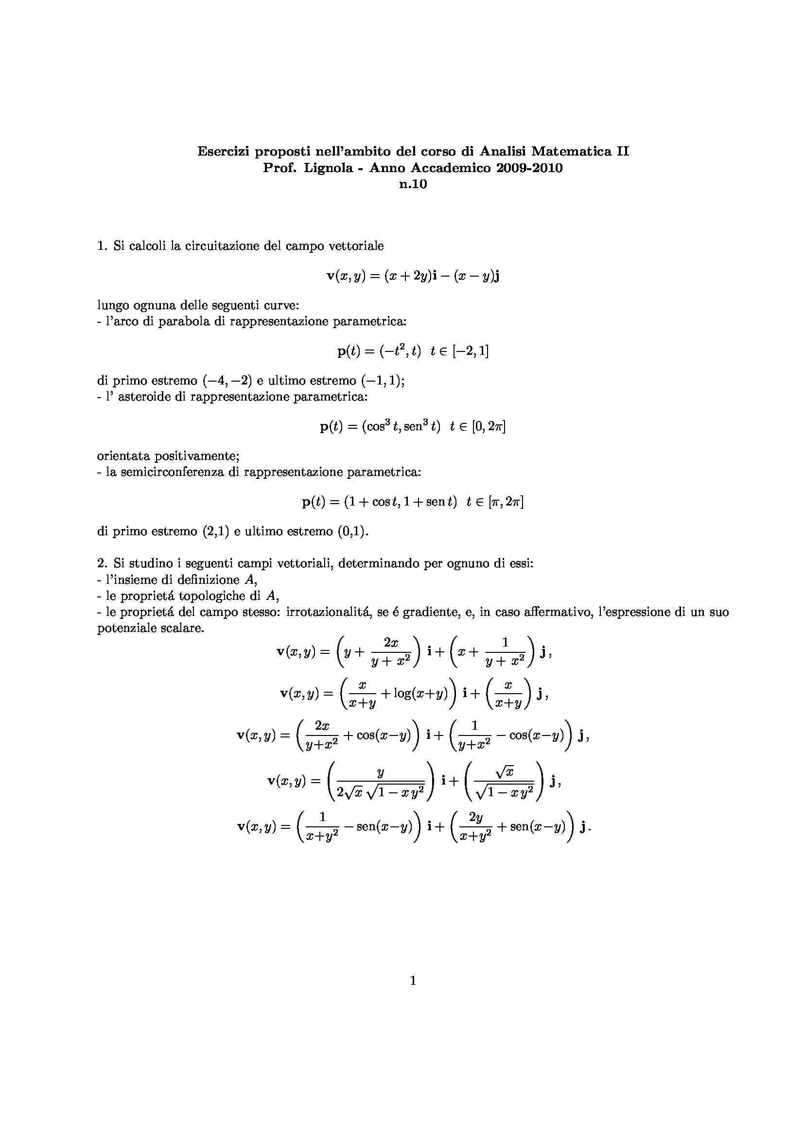 Analisi matematica II - Esercizio 11