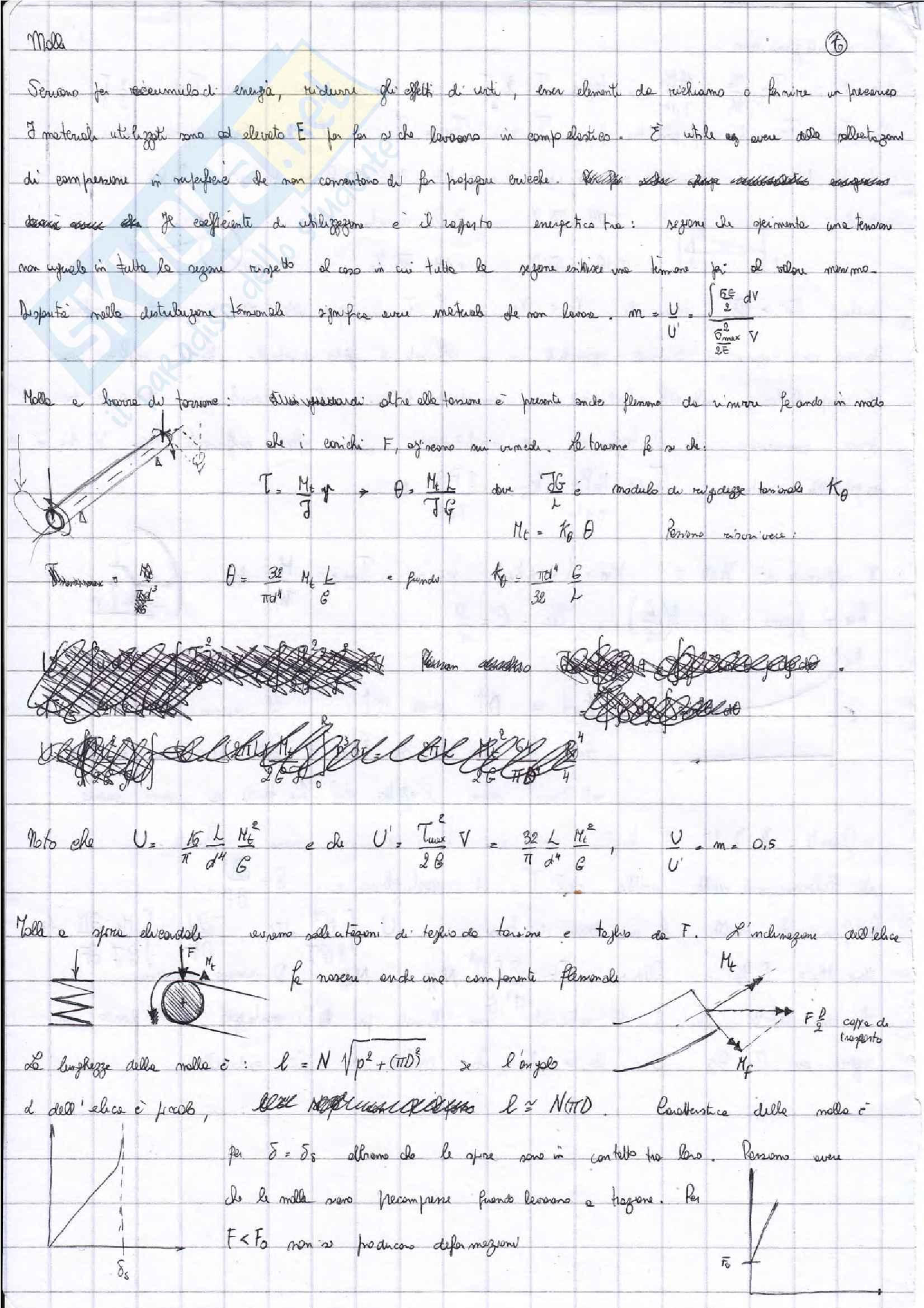 Appunti Costruzioni di macchine + esercizi esame prof. Citarella Pag. 31