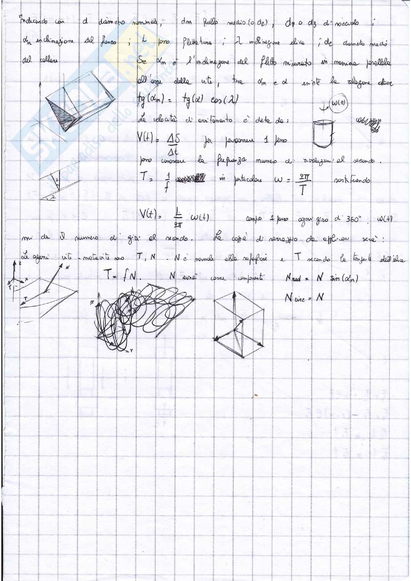 Appunti Costruzioni di macchine + esercizi esame prof. Citarella Pag. 36