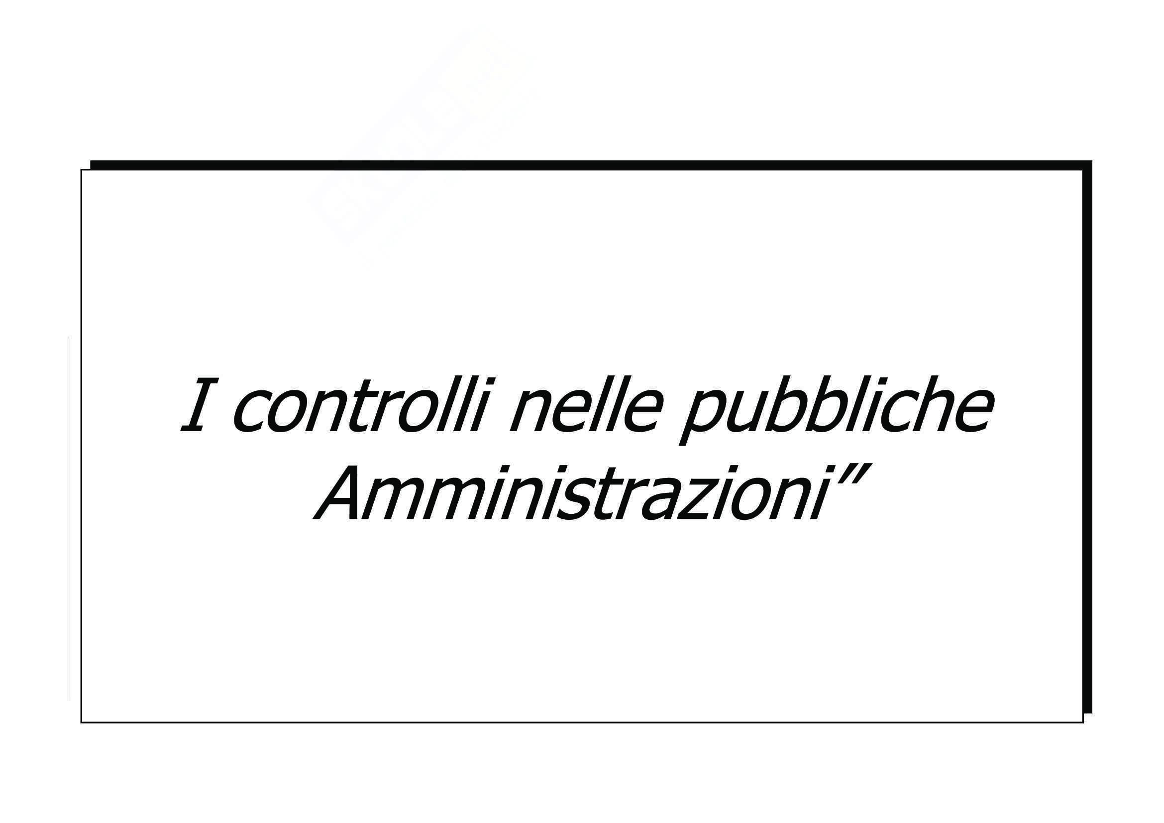 Controlli nelle Amministrazioni Pubbliche