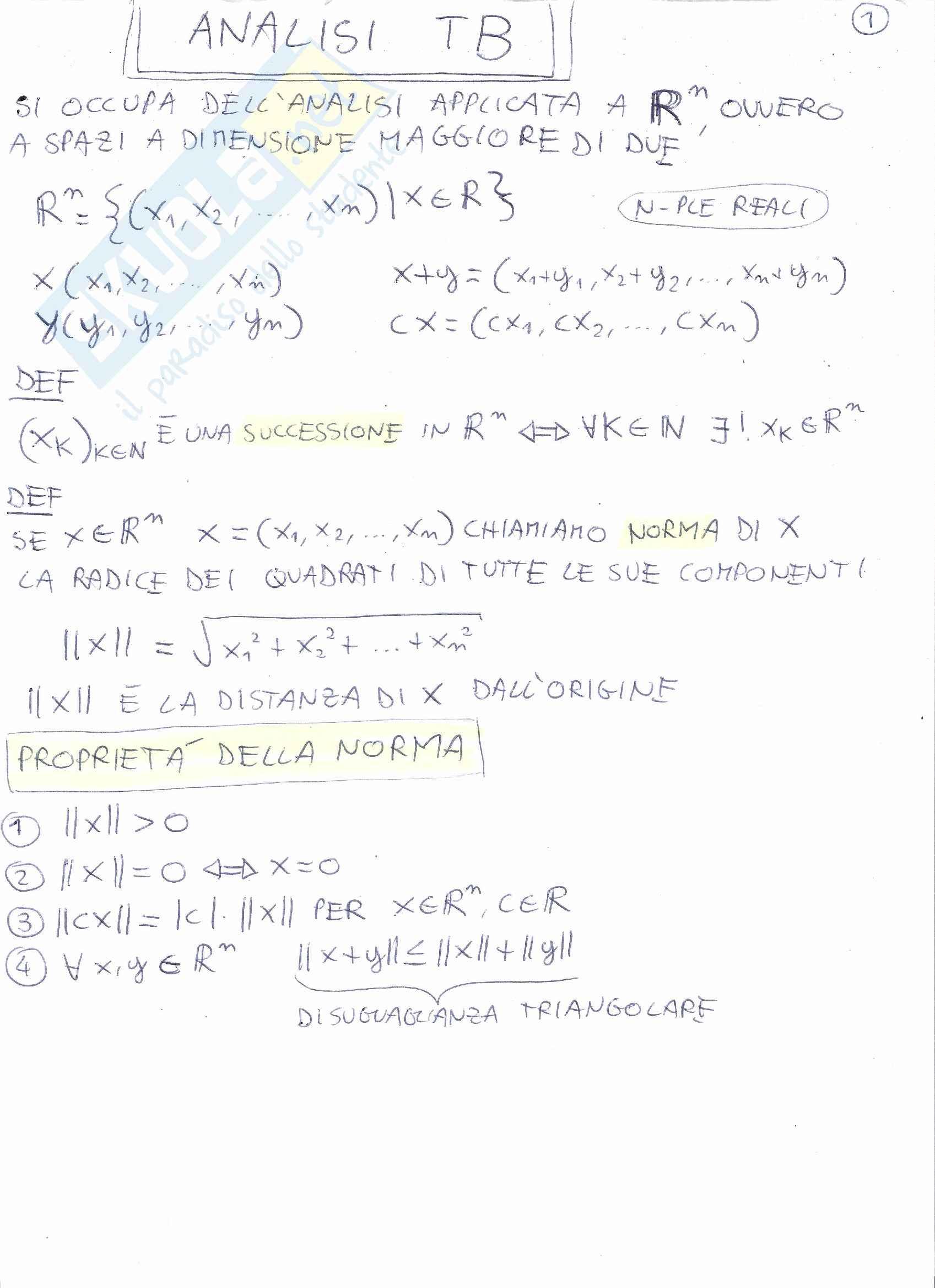 Analisi Matematica - Appunti ed esercizi