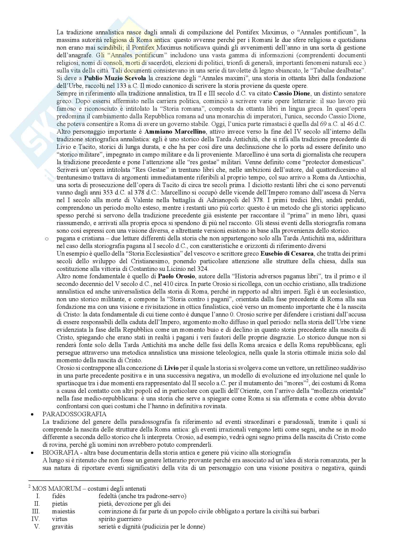 Le fonti della storia romana, storia romana Pag. 6