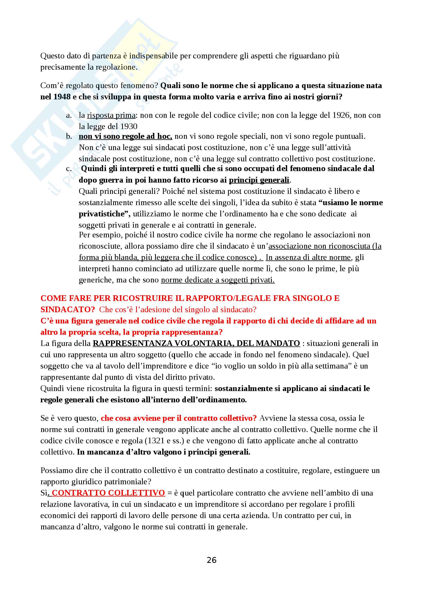 Appunti completi diritto sindacale Pag. 26