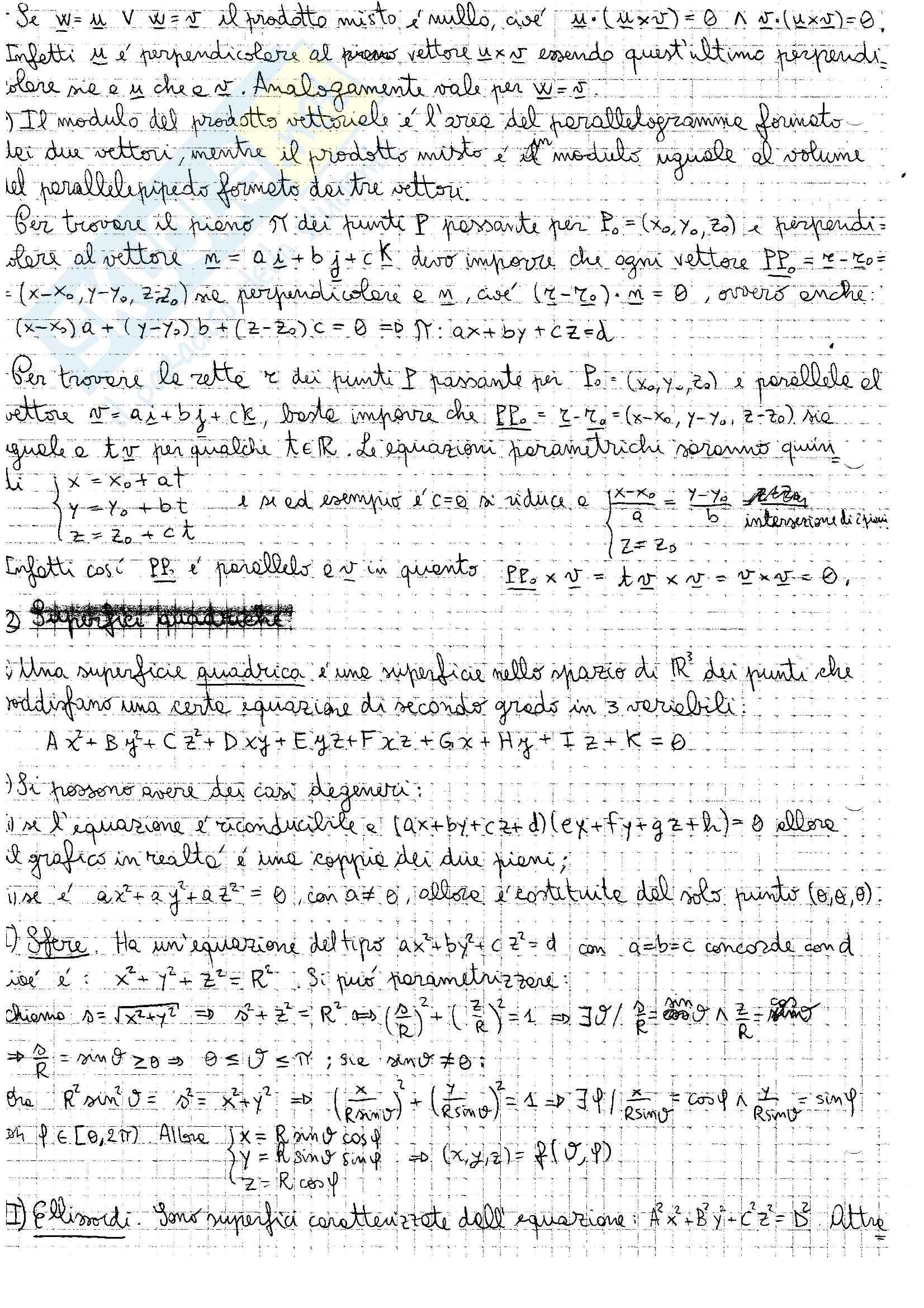 """Appunti di """"Analisi Matematica 2"""" Pag. 2"""