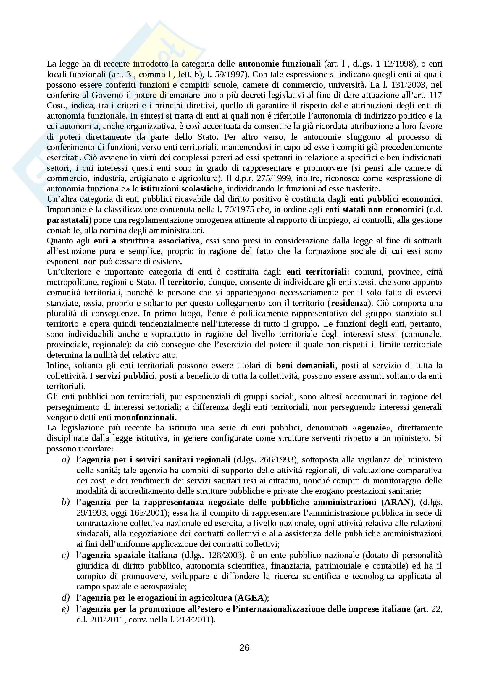 Riassunto esame Diritto, testo consigliato Manuale di diritto amministrativo, Casetta Pag. 26