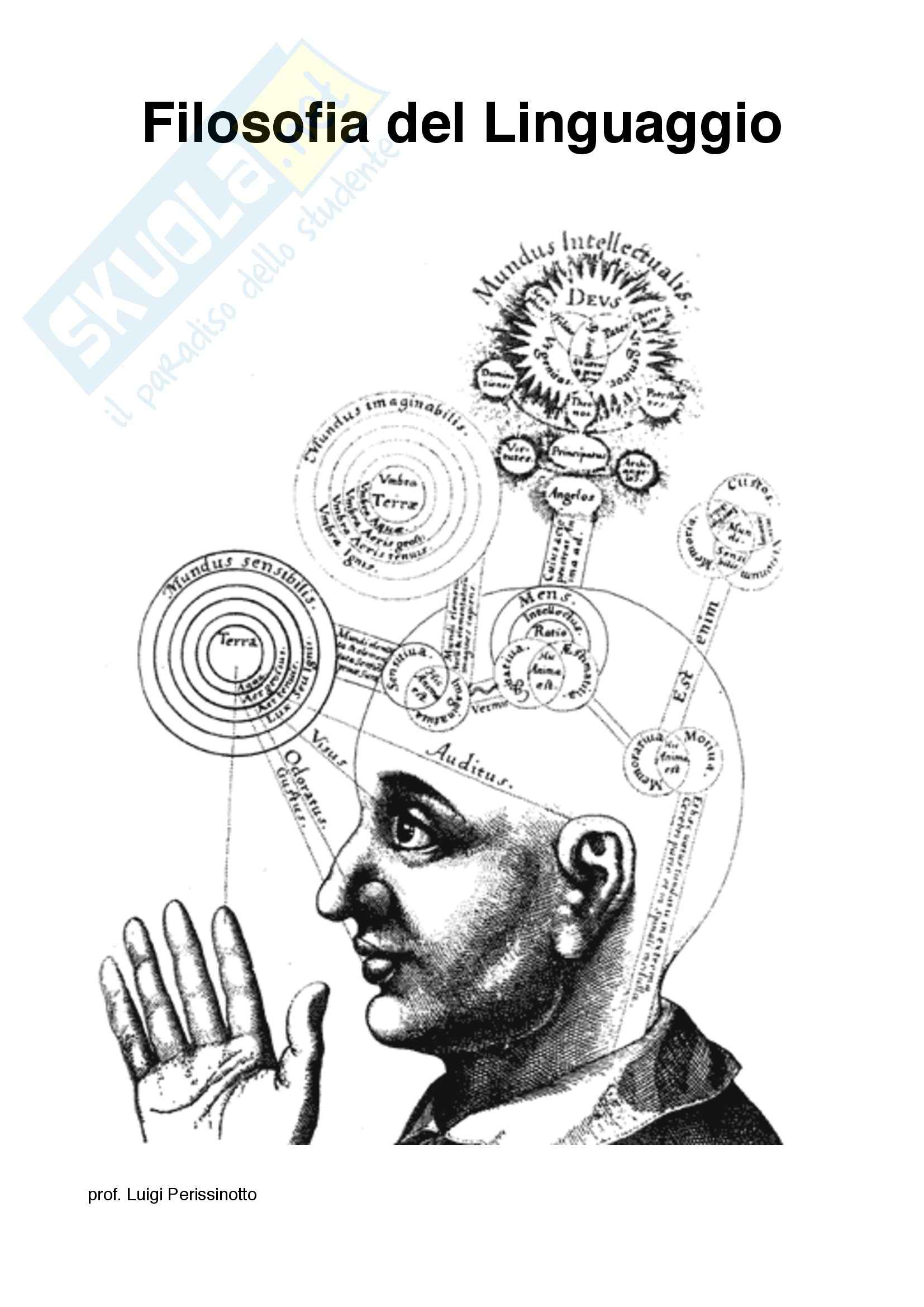 Lezioni prima parte: Appunti di Filosofia del linguaggio
