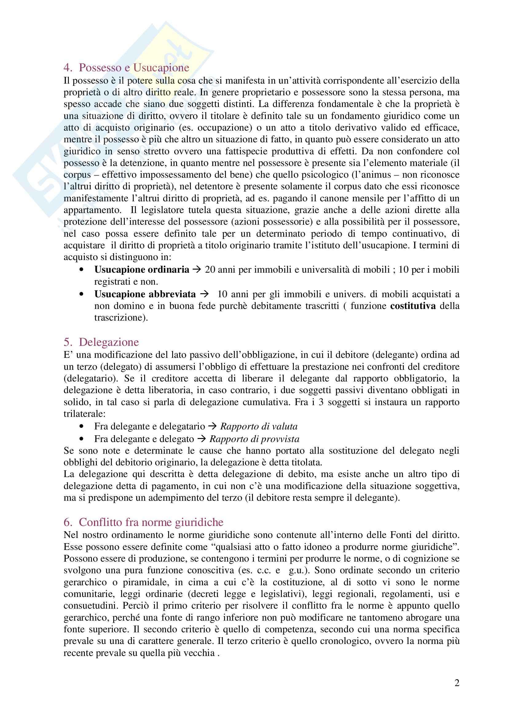 Diritto privato - Domande e risposte Pag. 2