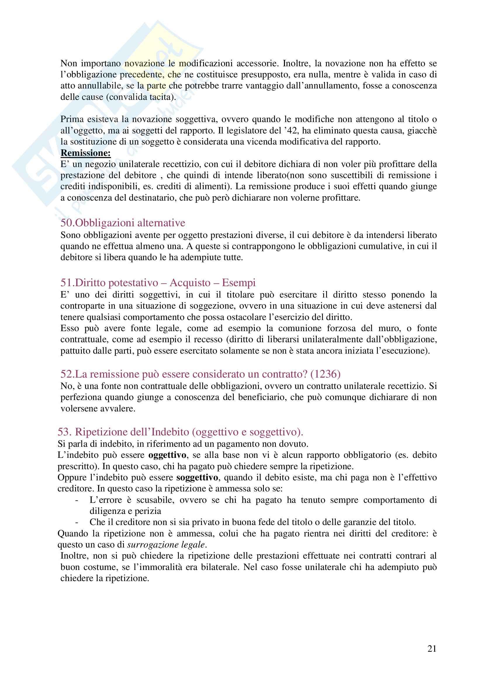 Diritto privato - Domande e risposte Pag. 21