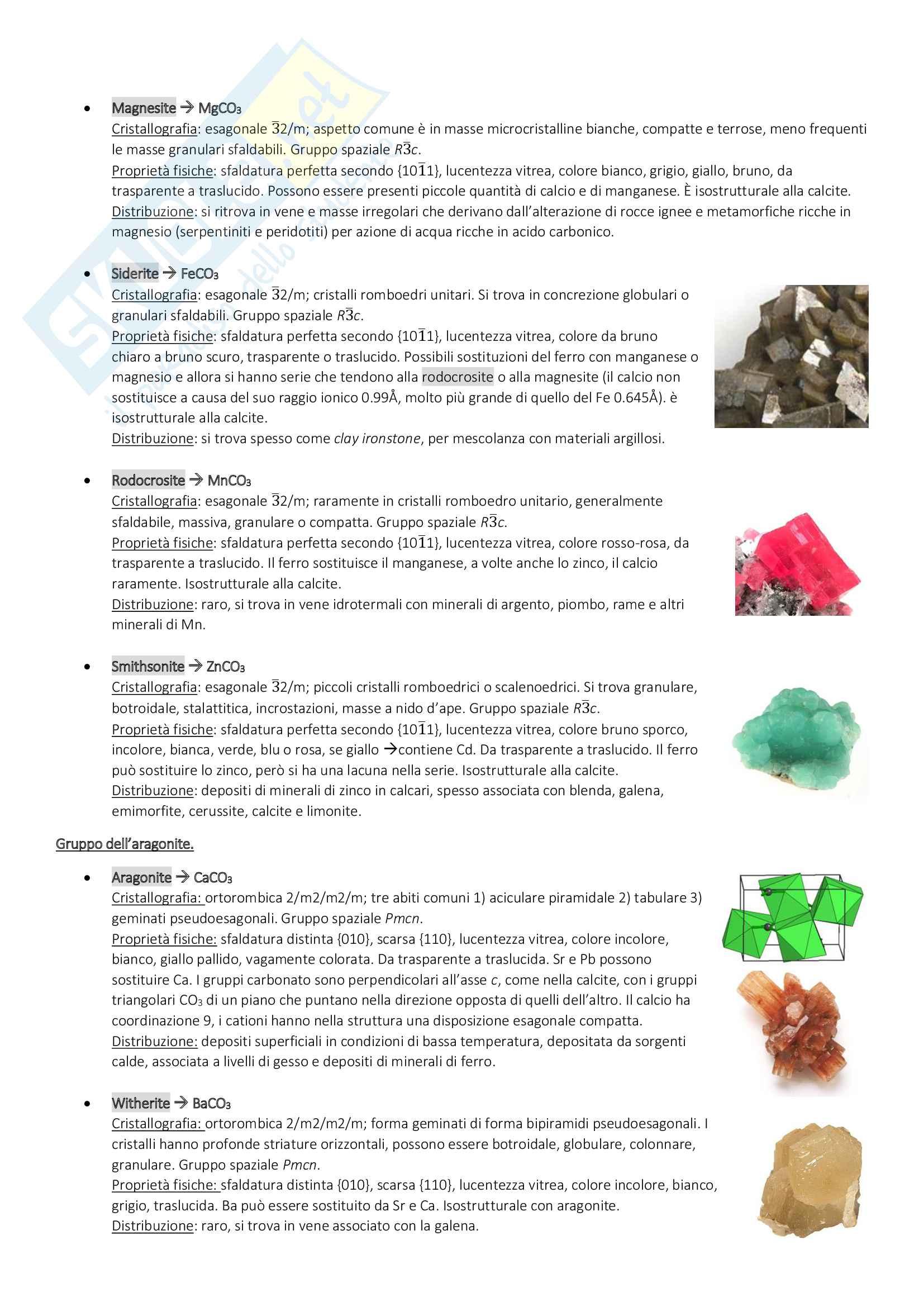 Mineralogia e cenni di Petrografia Pag. 61