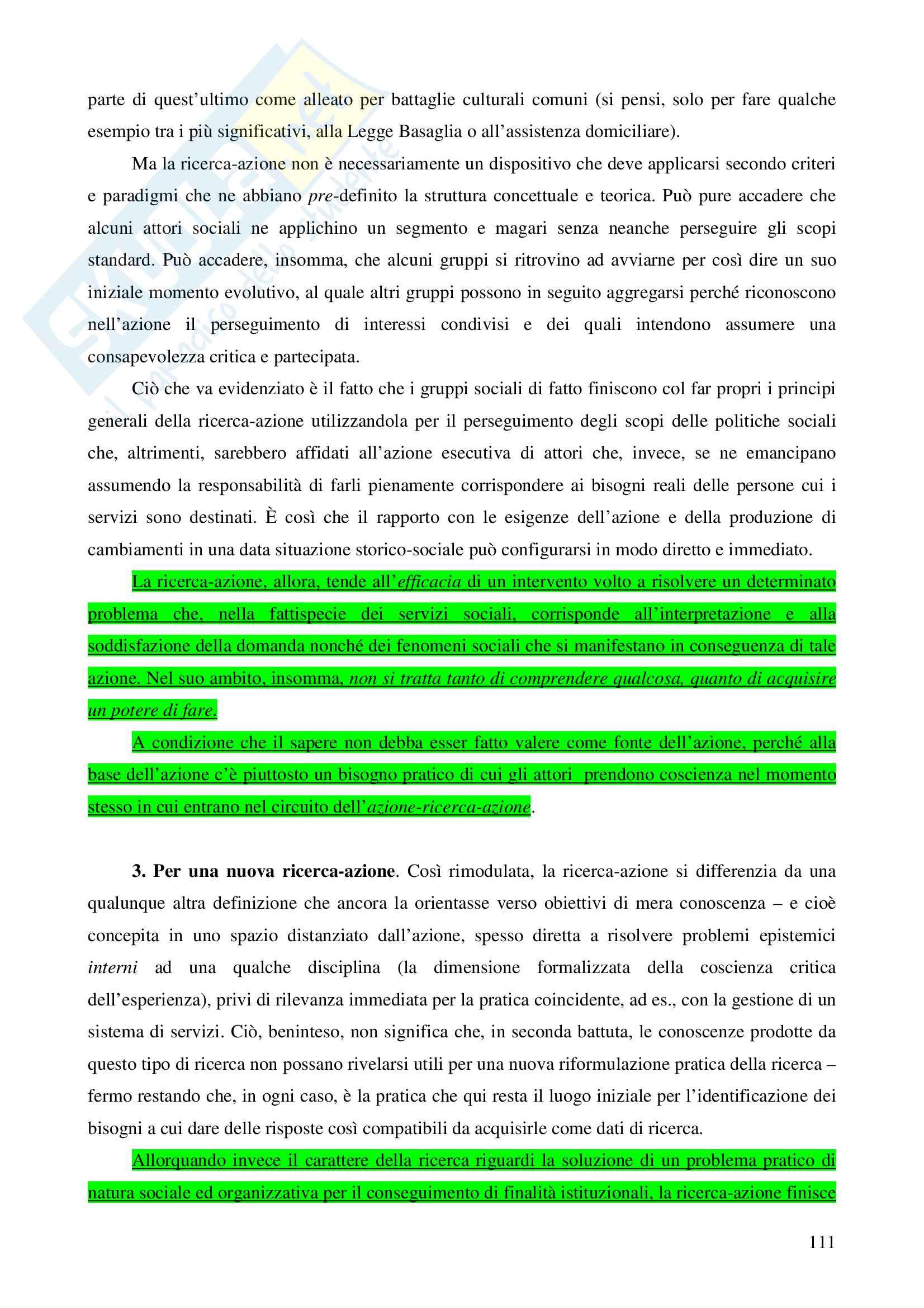 """Riassunto esame  Principi, fondamenti e organizzazione del servizio sociale, prof. Marsella, libro consigliato  """"L'episteme Sociale per gestire la governance"""" Pag. 111"""