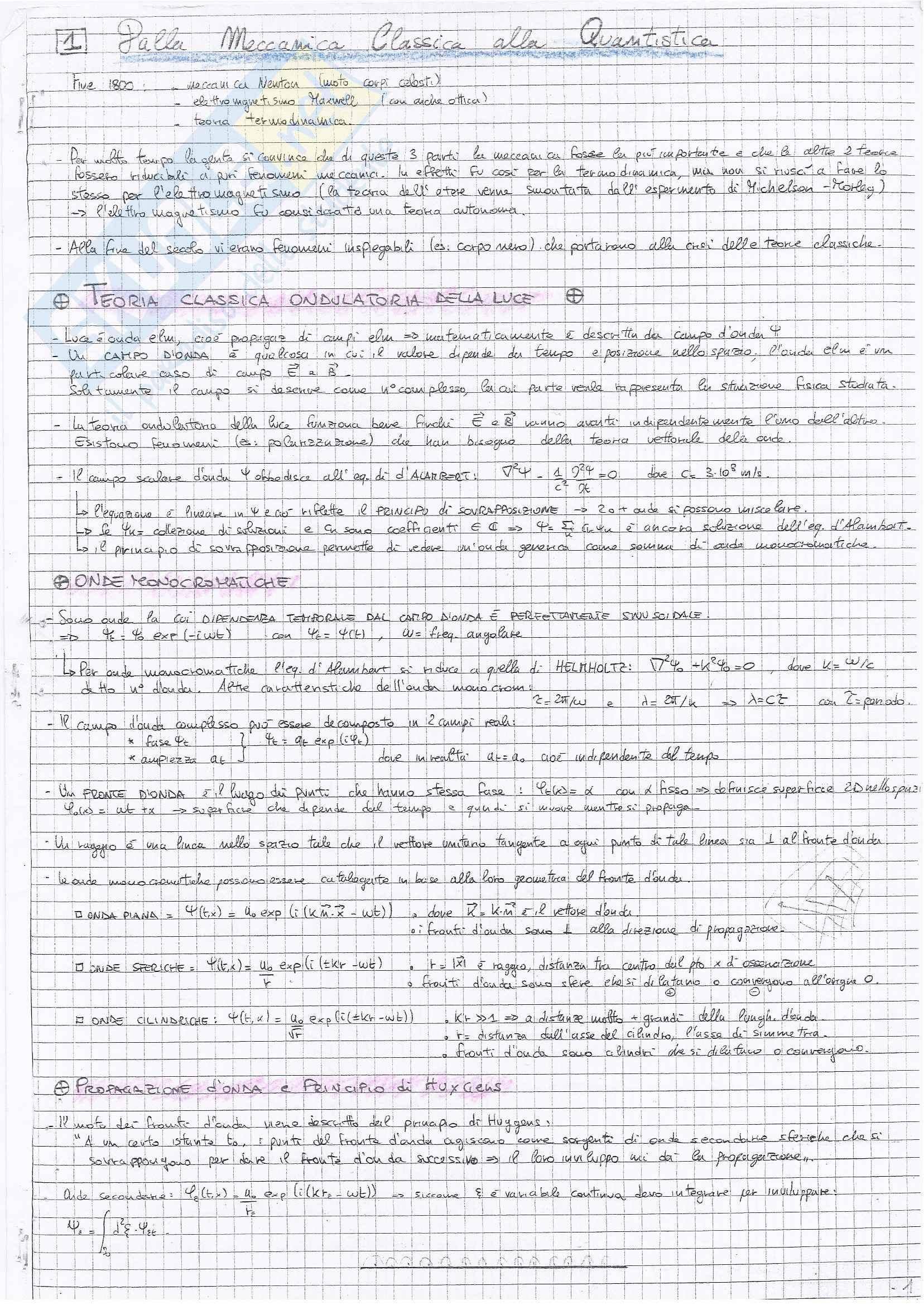 Appunti di Fisica Teorica