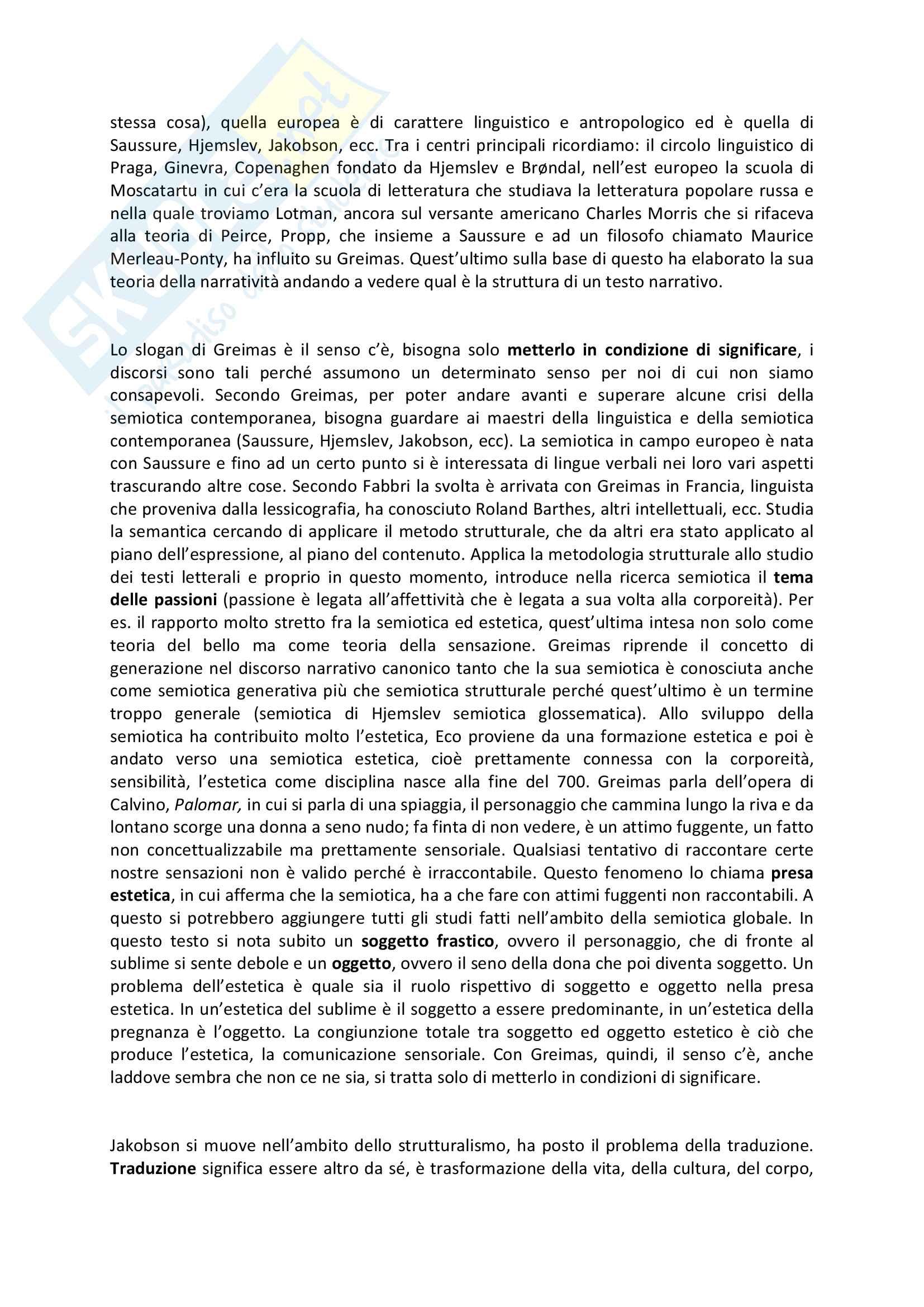 Riassunto esame Semiotica, prof. Caputo, libro consigliato: La competenza semiotica, Paolo Fabbri e Dario Mangano Pag. 2