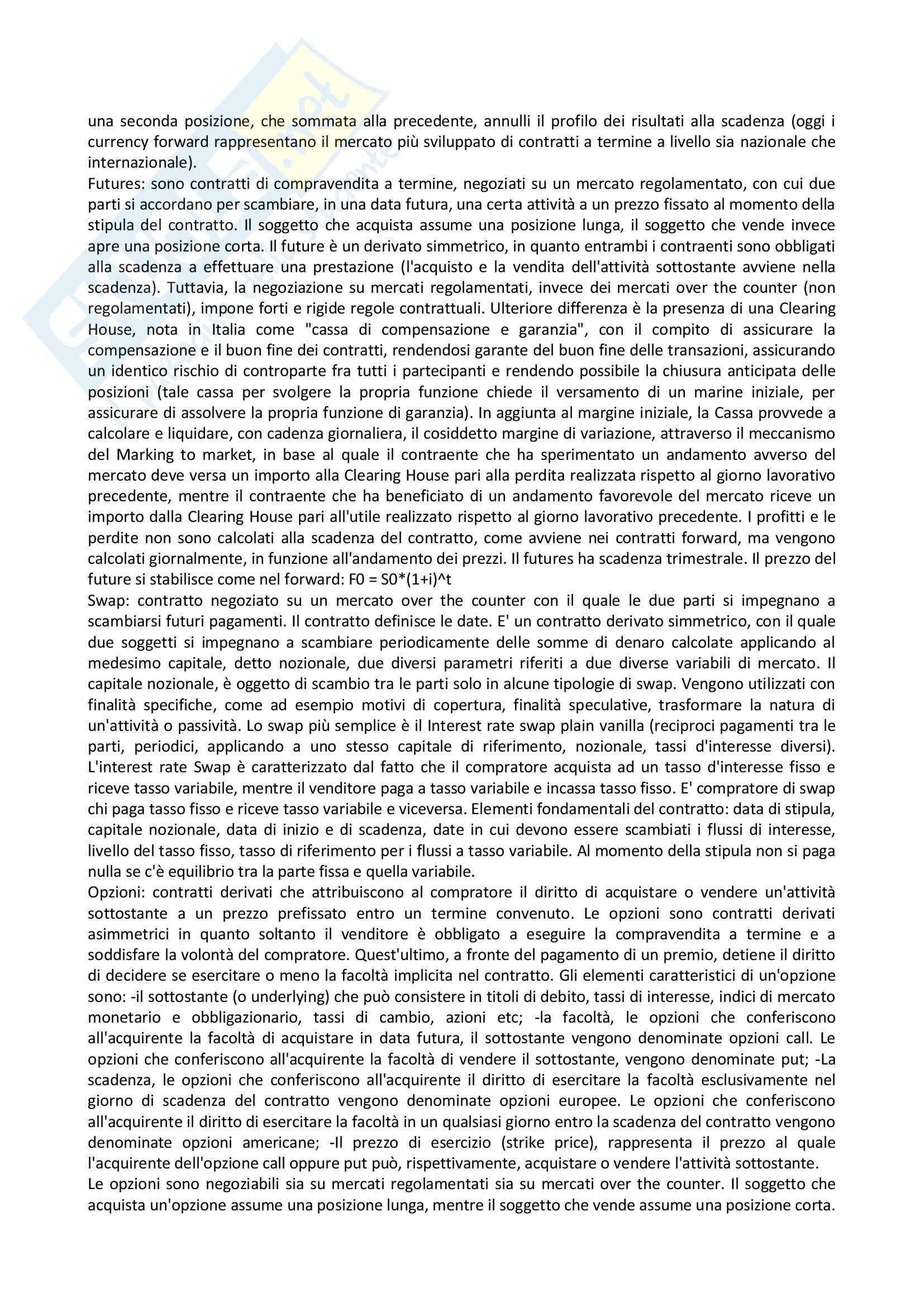 Riassunto esame Economia delle aziende di credito, prof. Lucarelli, libro consigliato Economia della banca, Ruozi Pag. 46