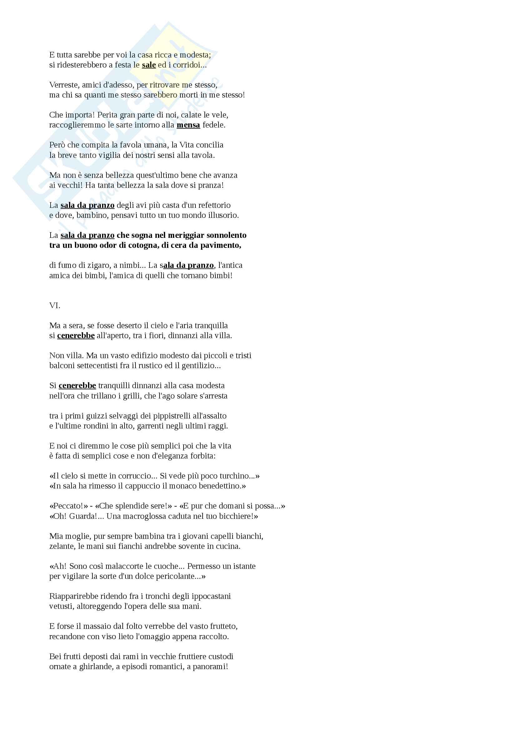 """Riassunto esame Poesia italiana del Novecento Lorenzini, libro consigliato """"Guido Gozzano"""" Sanguineti Pag. 6"""
