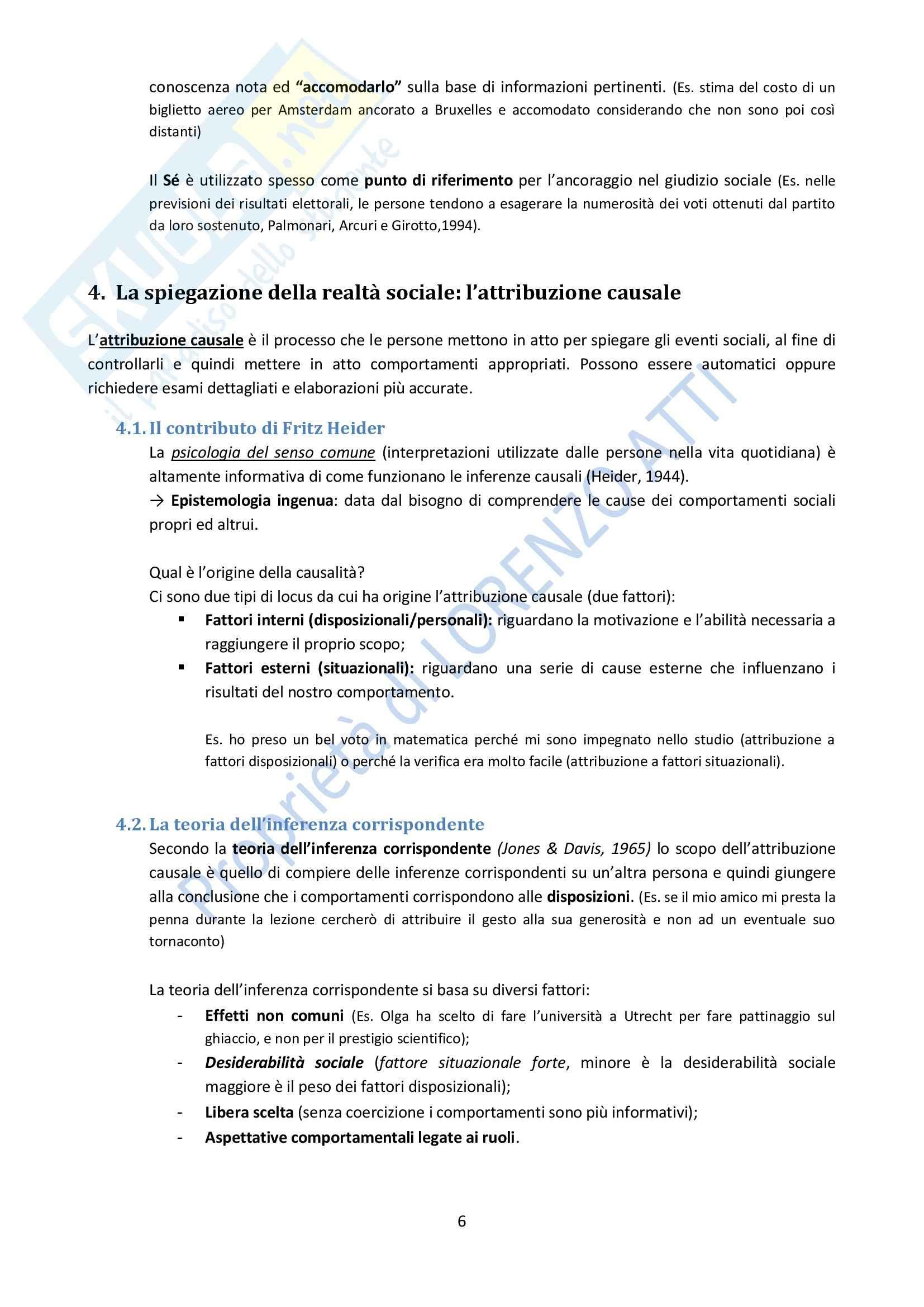 Riassunto esame Psicologia, prof. Rubini, libro consigliato Manuale di Psicologia Sociale, Palmonari, Cavazza, Rubini Pag. 6