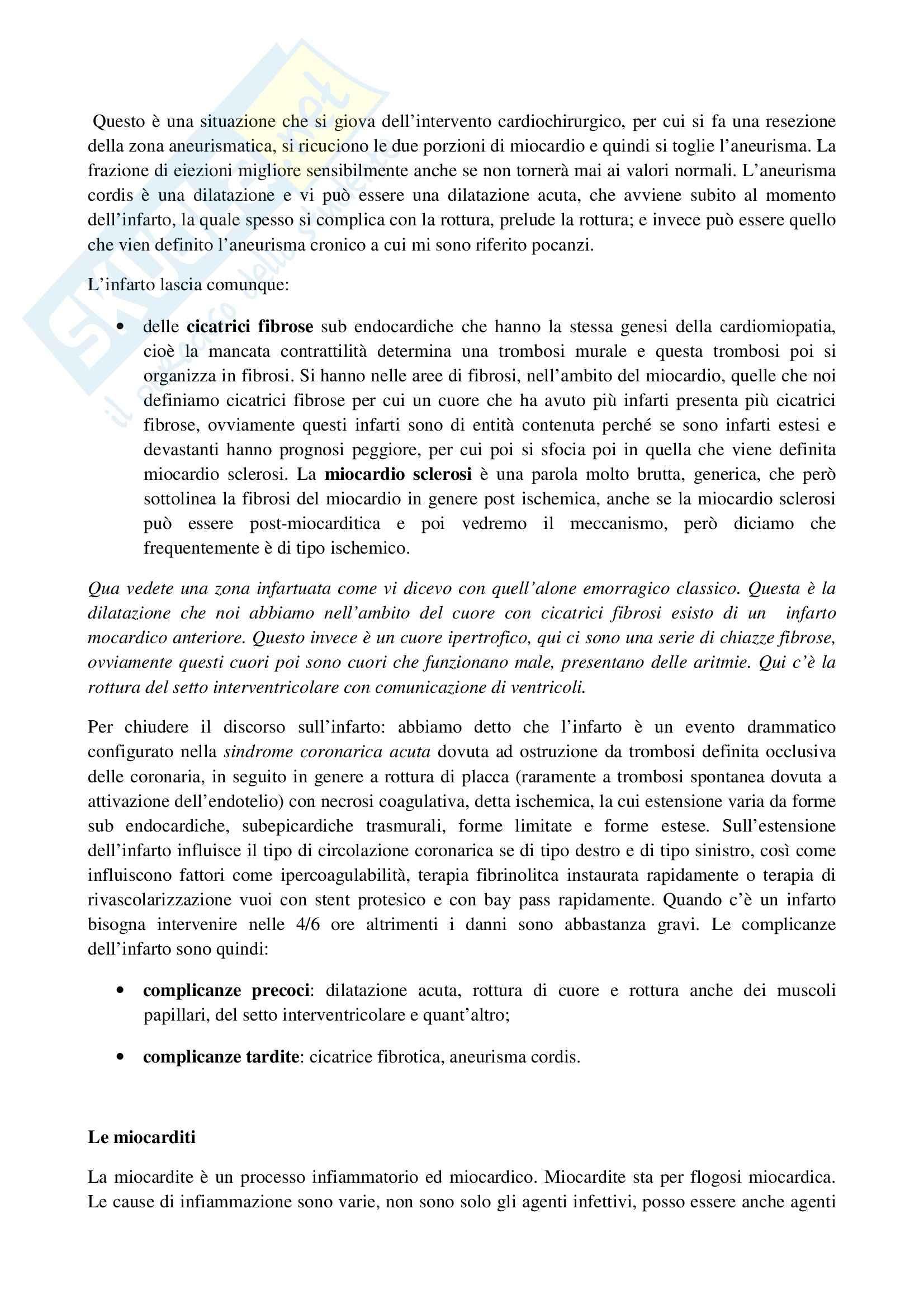 Anatomia patologica - necrosi miocardica Pag. 6