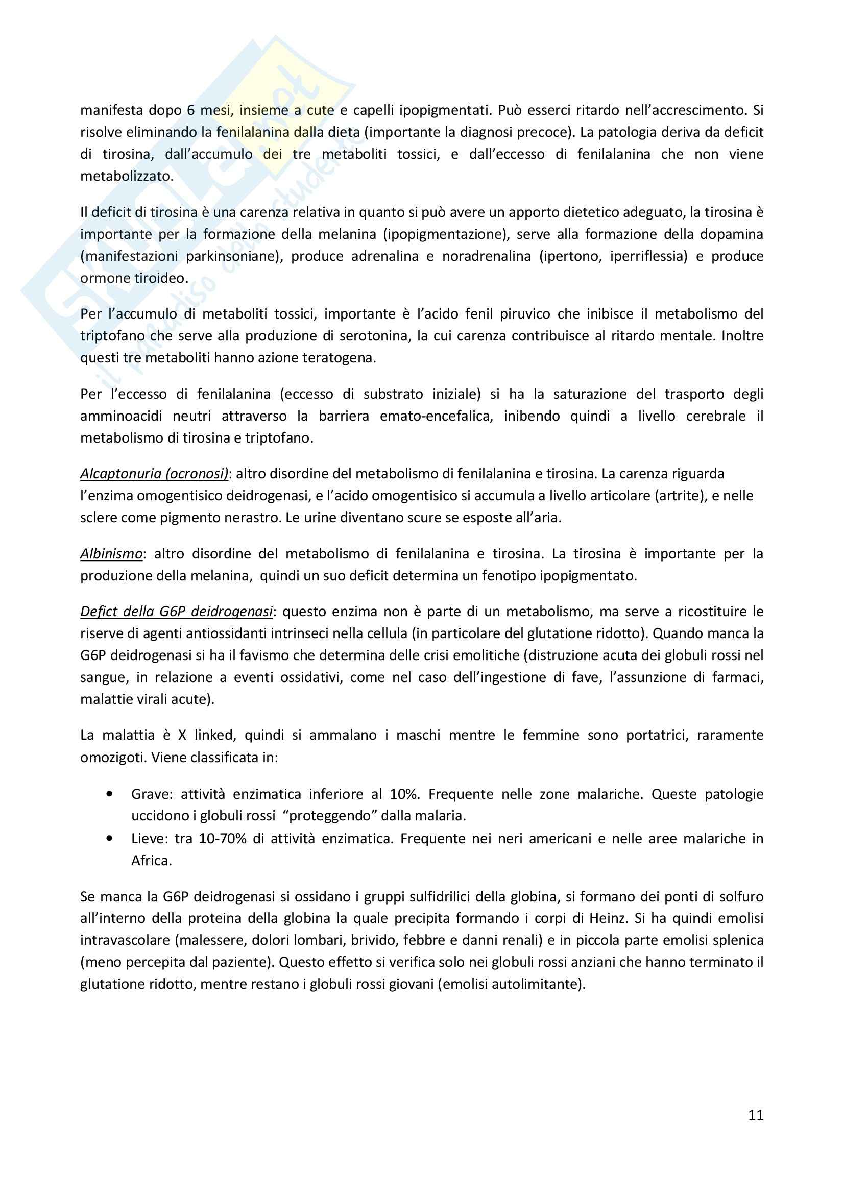 Patologia generale - Cause intrinseche Pag. 11