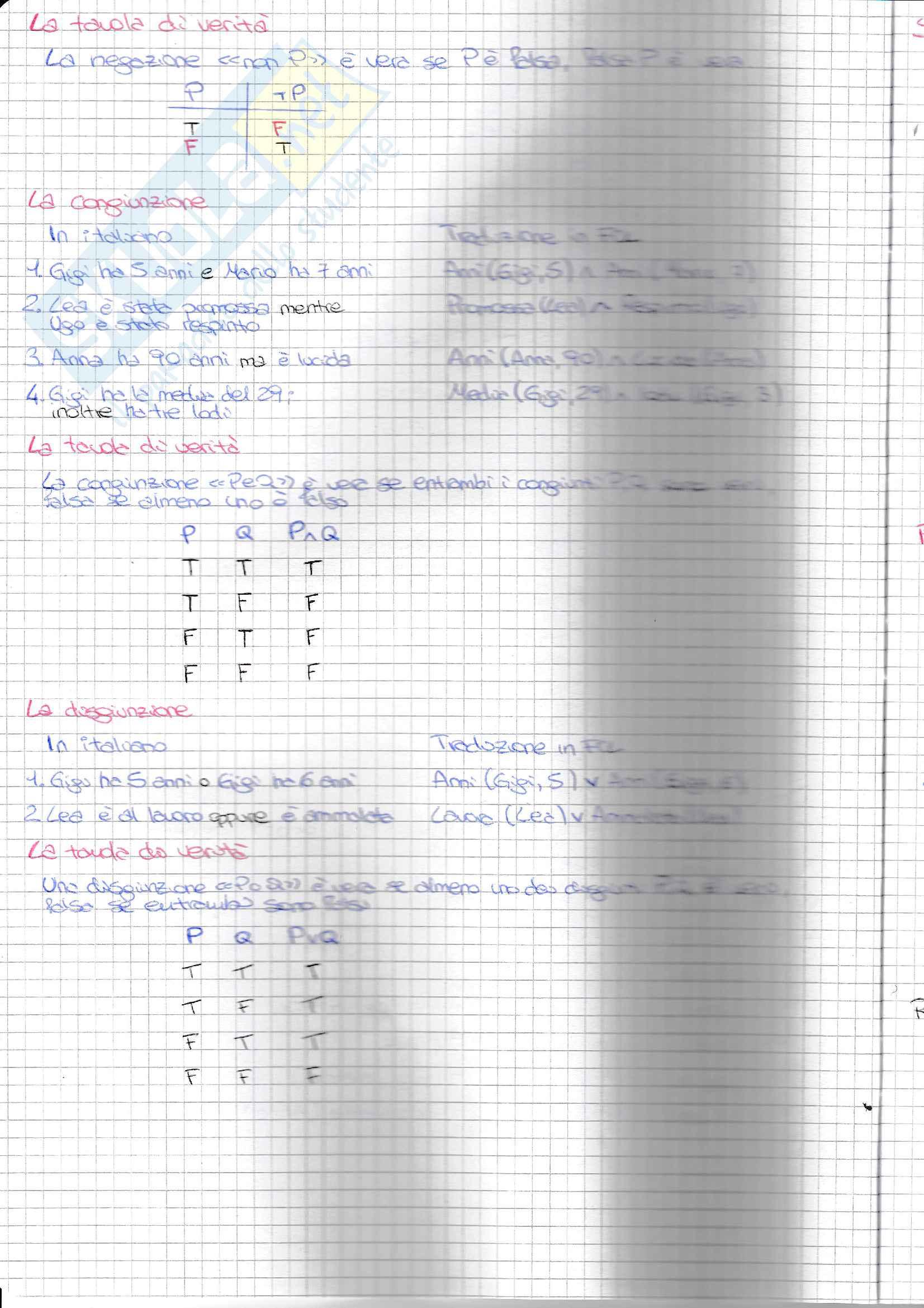 Parte 1 - Logica preposizionale, proposizioni atomiche, macro regole Pag. 6