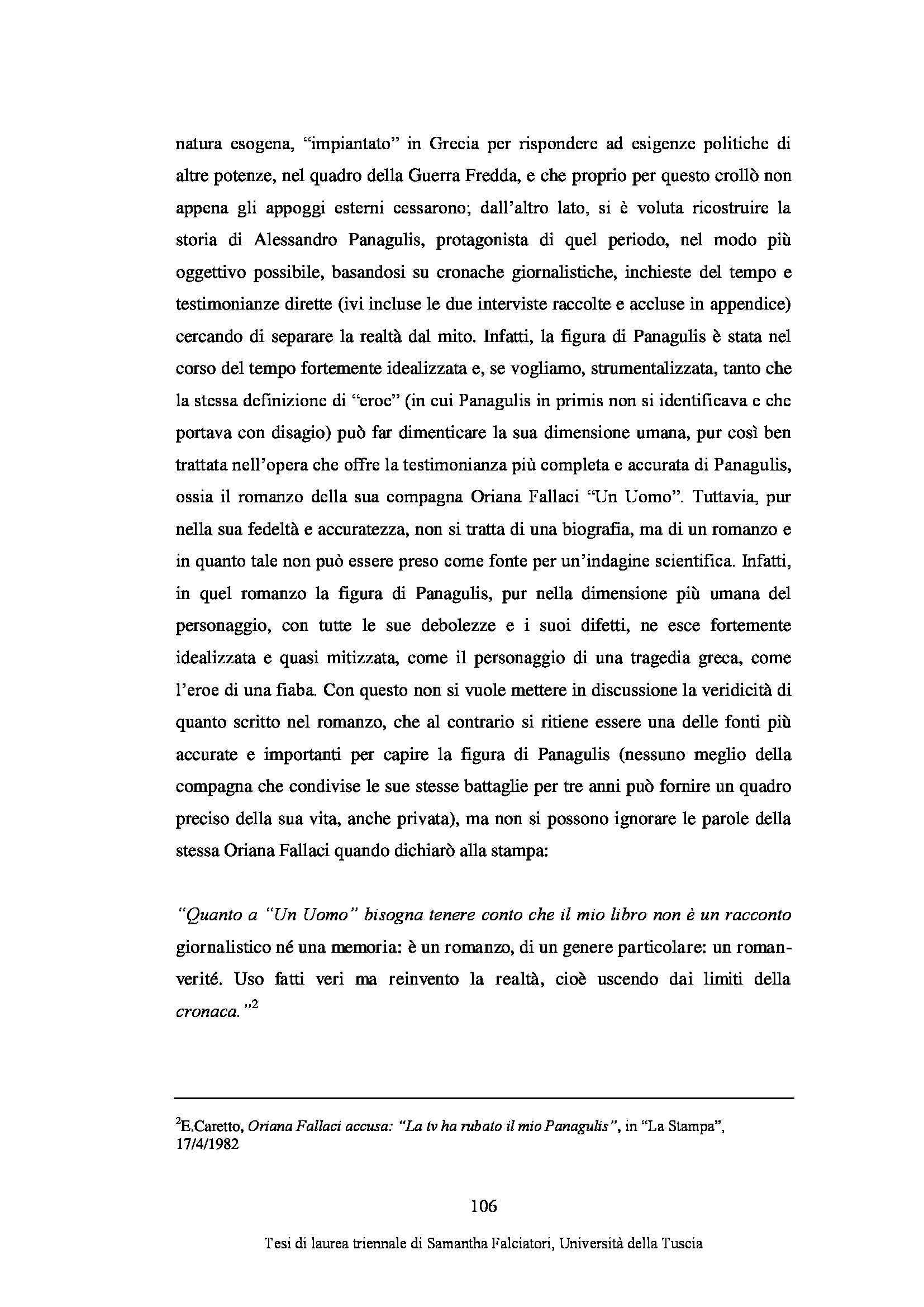 Tesi triennale - Alessandro Panagulis Pag. 111