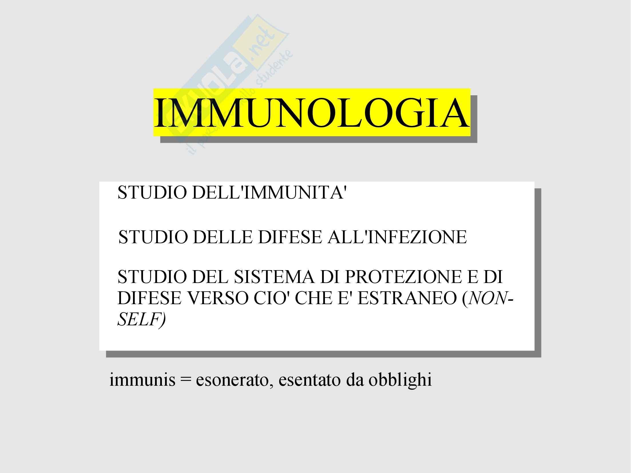 Immunità e immunologia