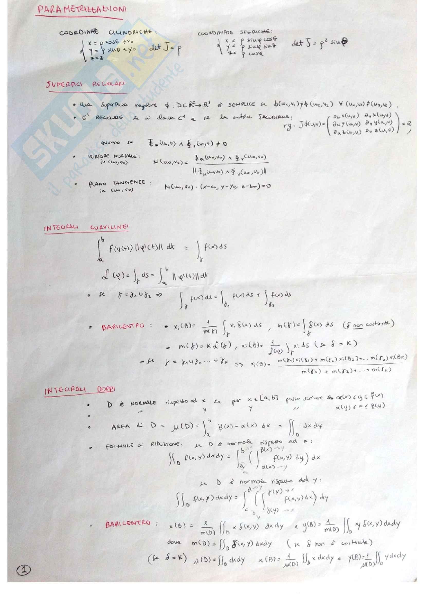 Formulario di Analisi 2