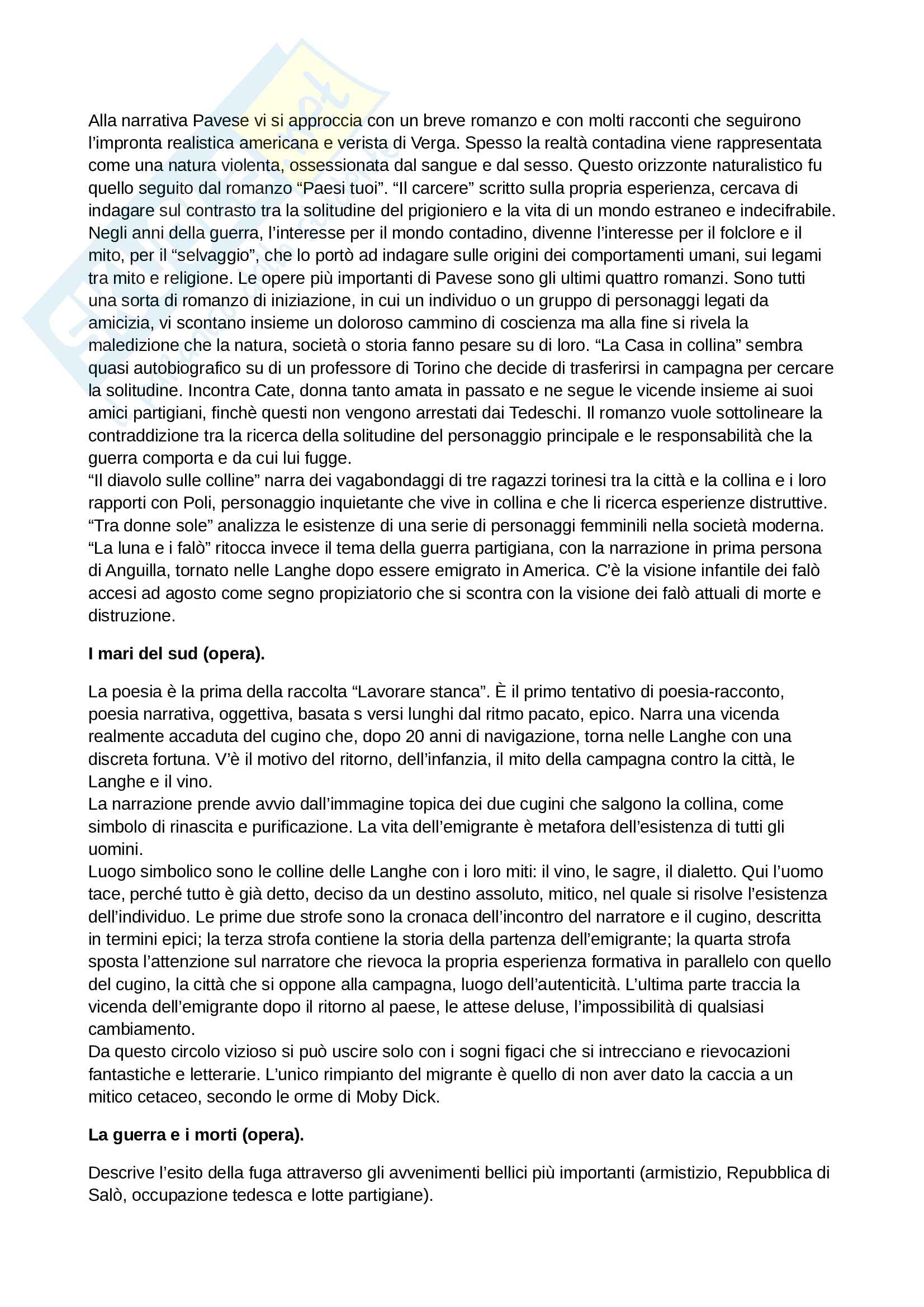 Riassunto esame Letteratura Italiana Contemporanea, prof. Frabotta, libro consigliato Storia e Testi della Letteratura Italiana, Ferroni Pag. 6