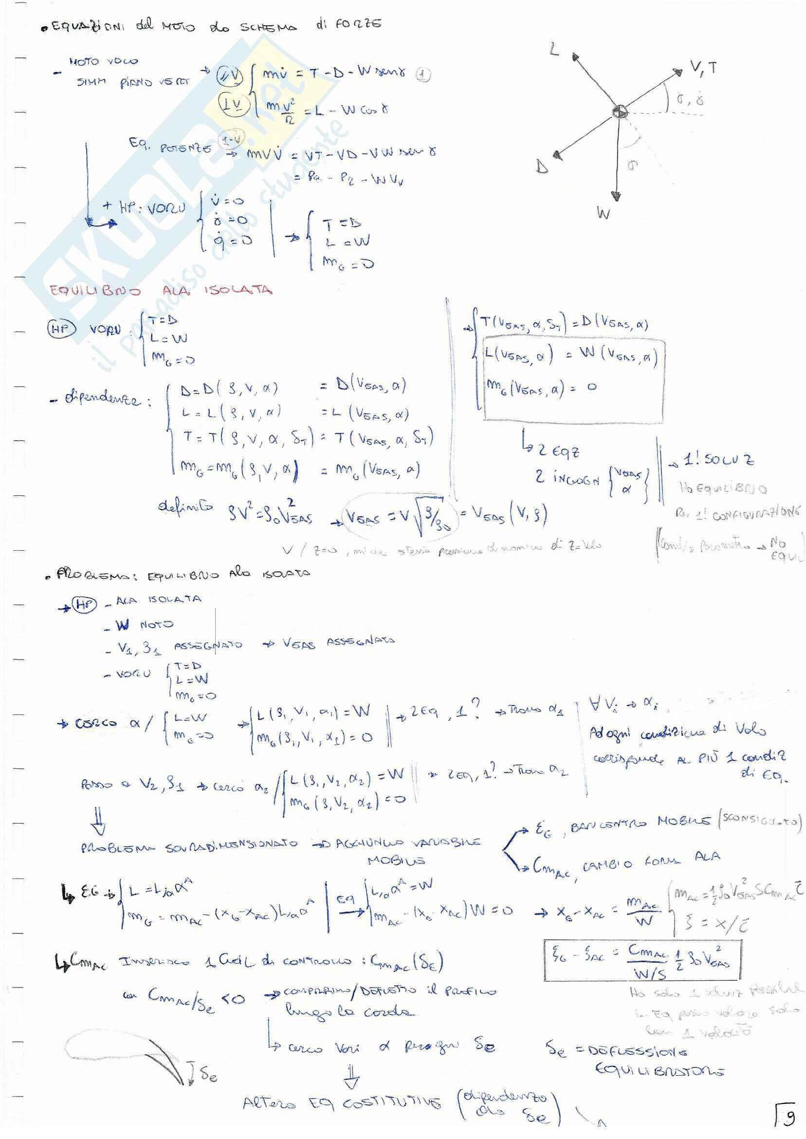 Meccanica del volo - Appunti teoria Pag. 11