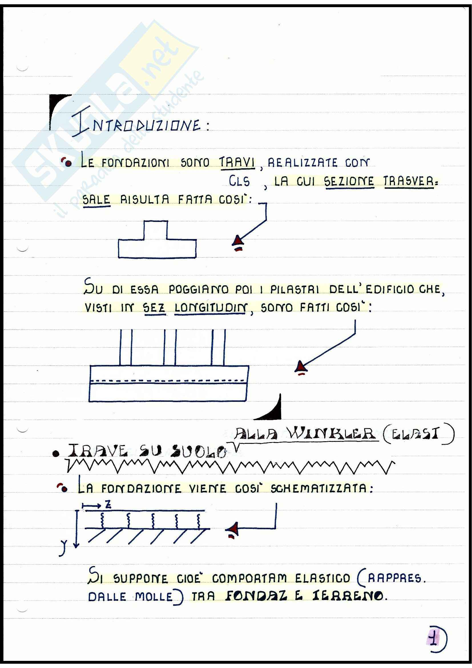 Tecnica delle Costruzioni - Travi di fondazione Pag. 2