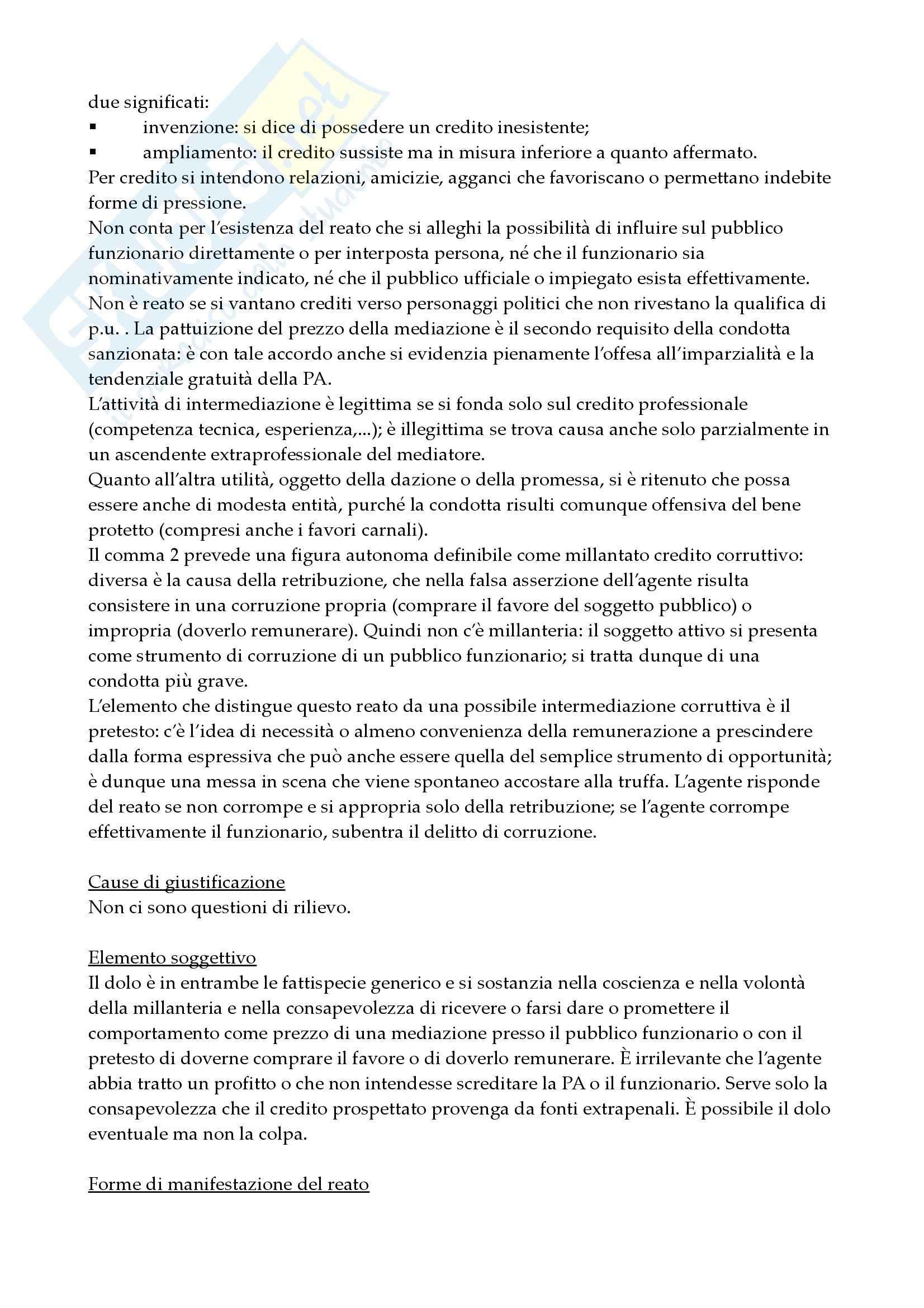 Reati contro la pubblica amministrazione Pag. 71