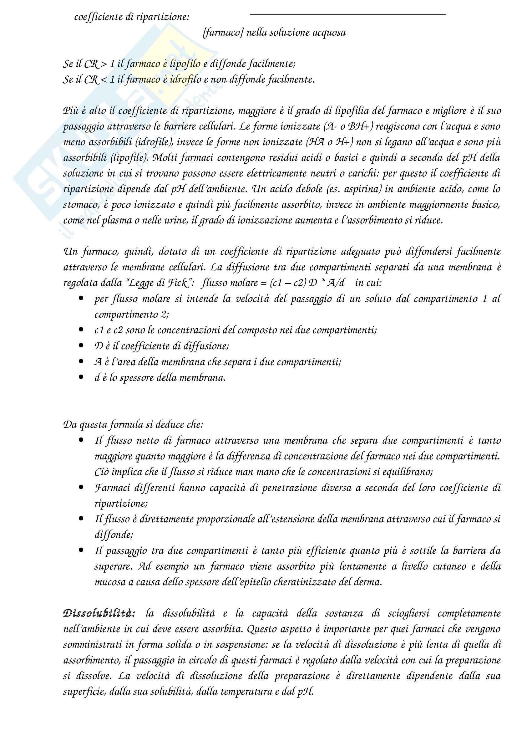 Riassunto esame Farmacologia, prof. Canzoniero, libro consigliato Farmacologia generale e molecolare, Clementi, Fumagalli Pag. 2