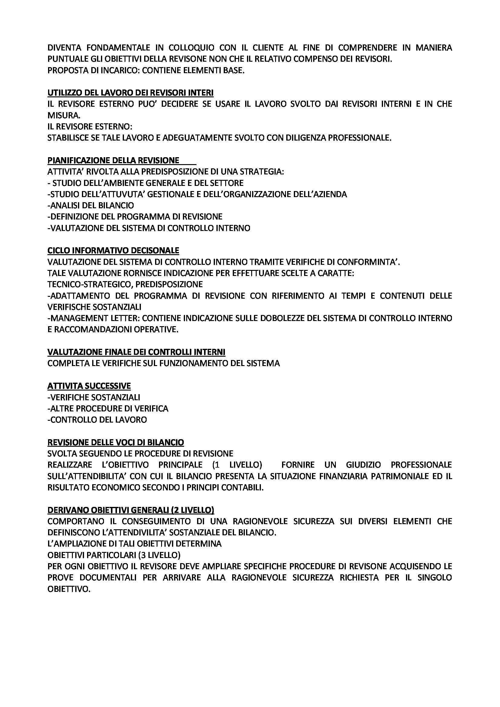 Revisione aziendale - Appunti e schemi Pag. 2