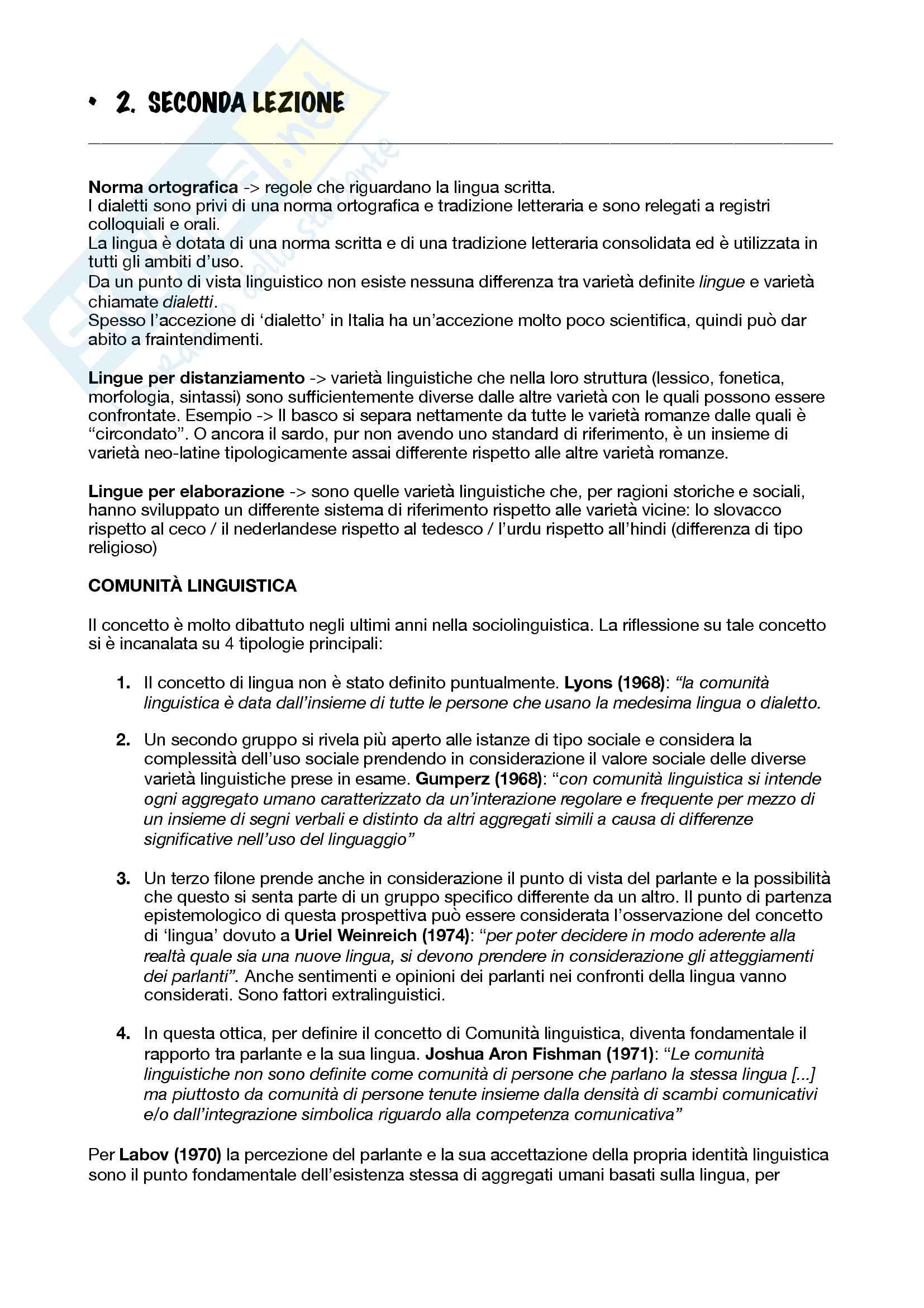 Appunti sociolinguistica Pag. 6