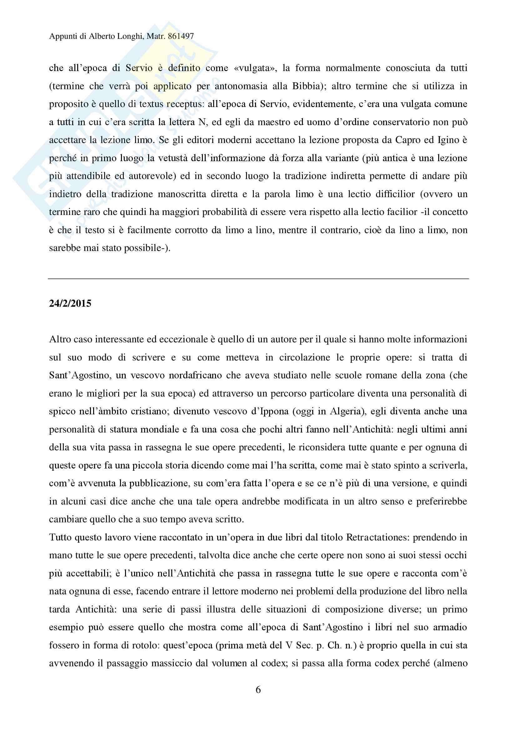 Filologia umanistica Pag. 6