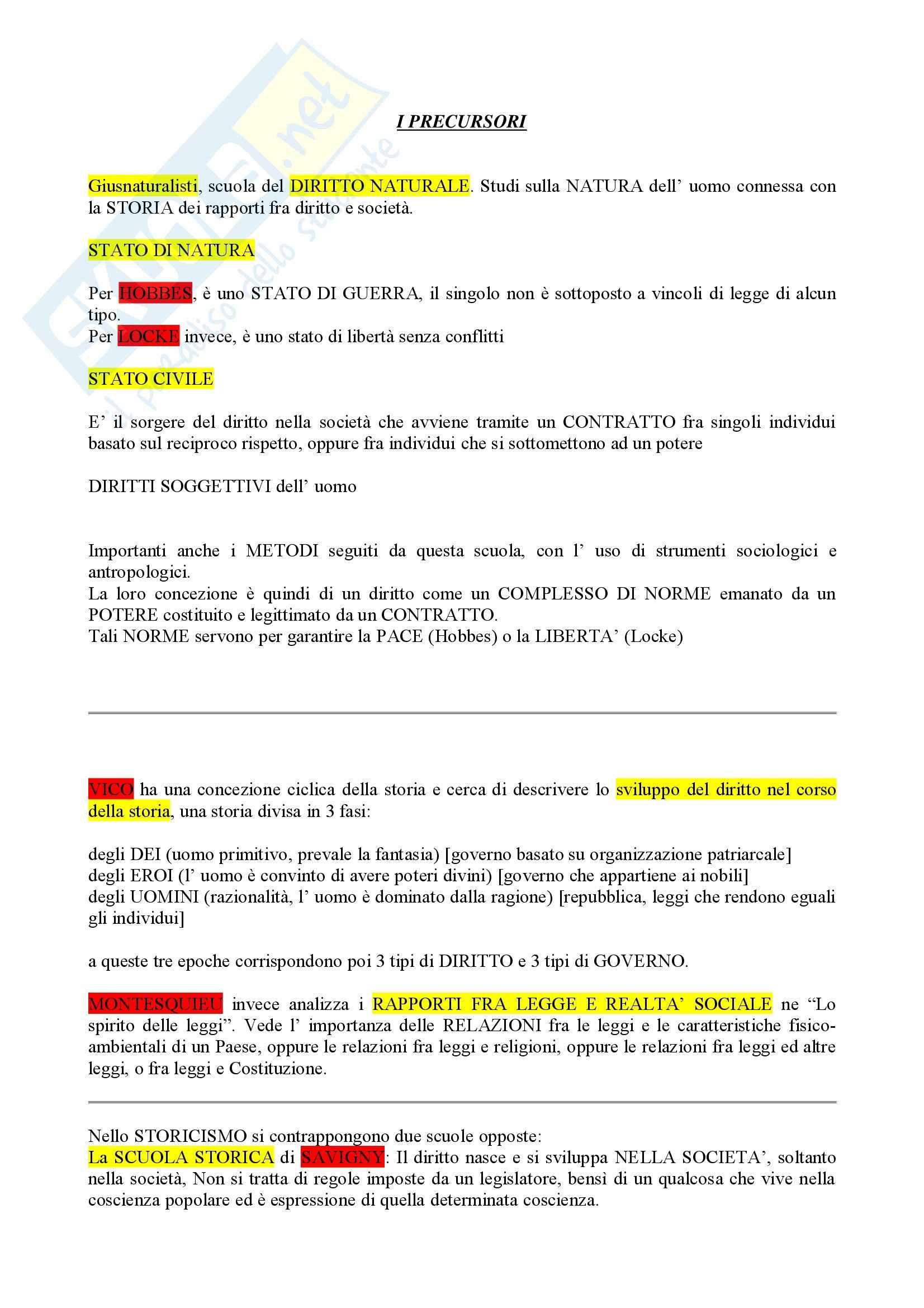 Riassunto esame Sociologia del Diritto, prof. Ghezzi, libro consigliato Sociologia del Diritto, Treves
