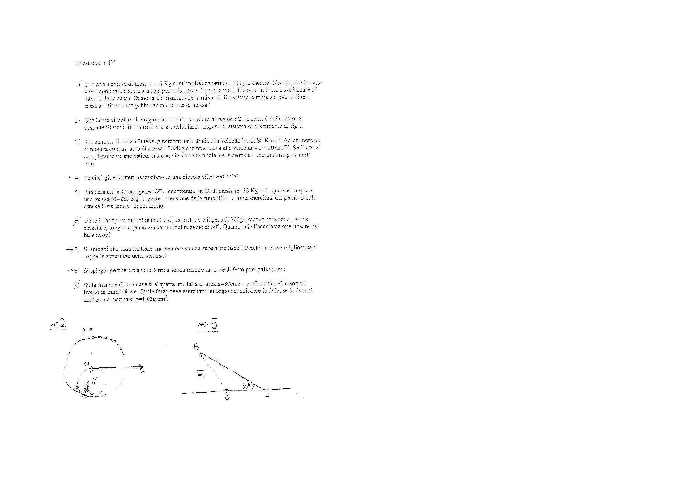 esercitazione A. Cassinese Fisica 1