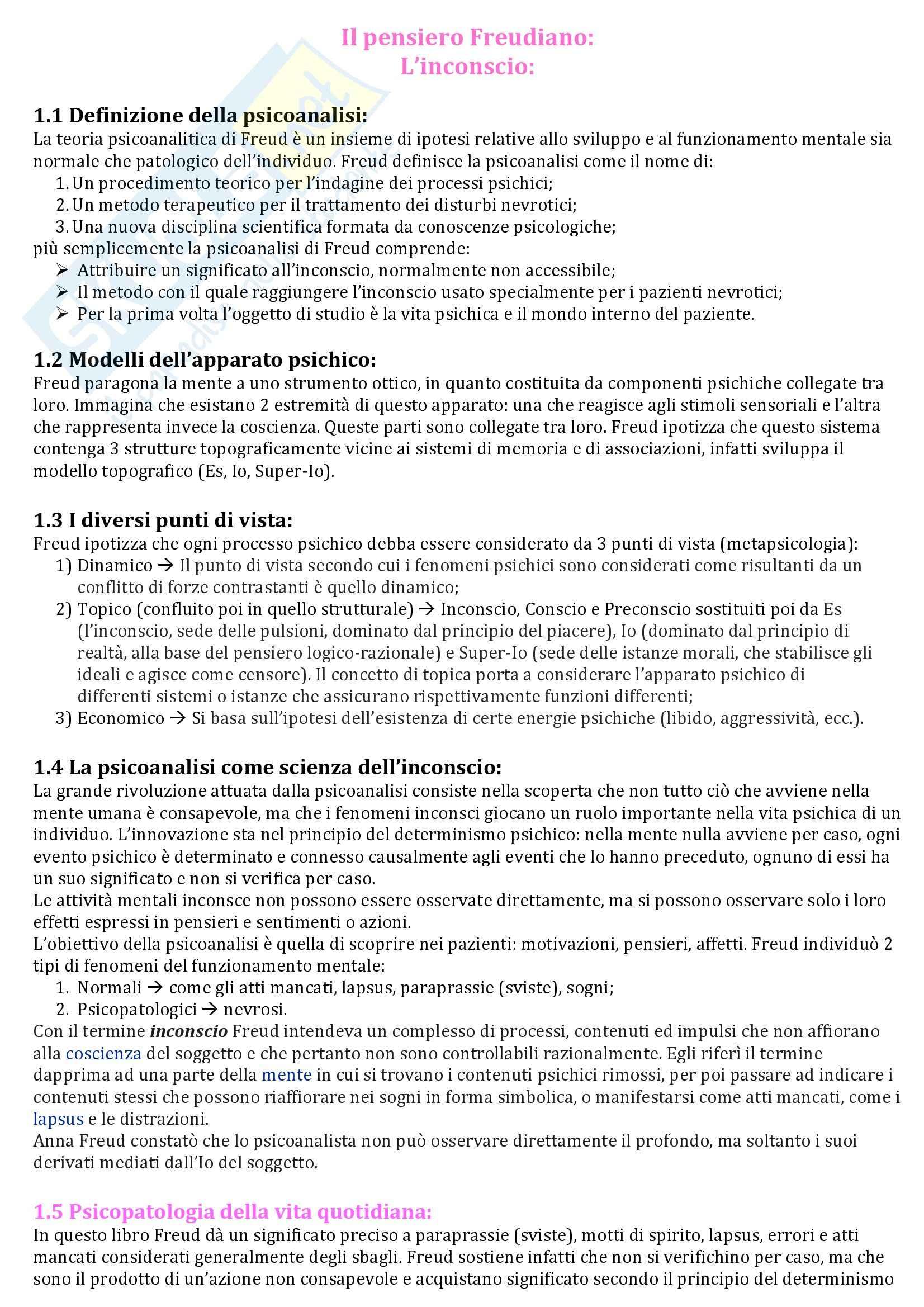 appunto C. Mazzeschi Psicologia dinamica