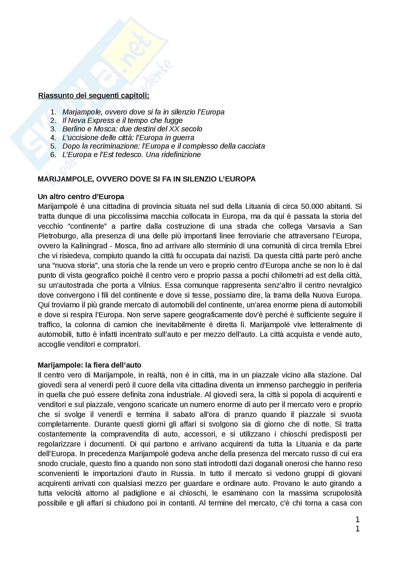 Riassunto esame Teorie politiche, prof. Chiantera, libro consigliato Arcipelago Europa, Schlogel